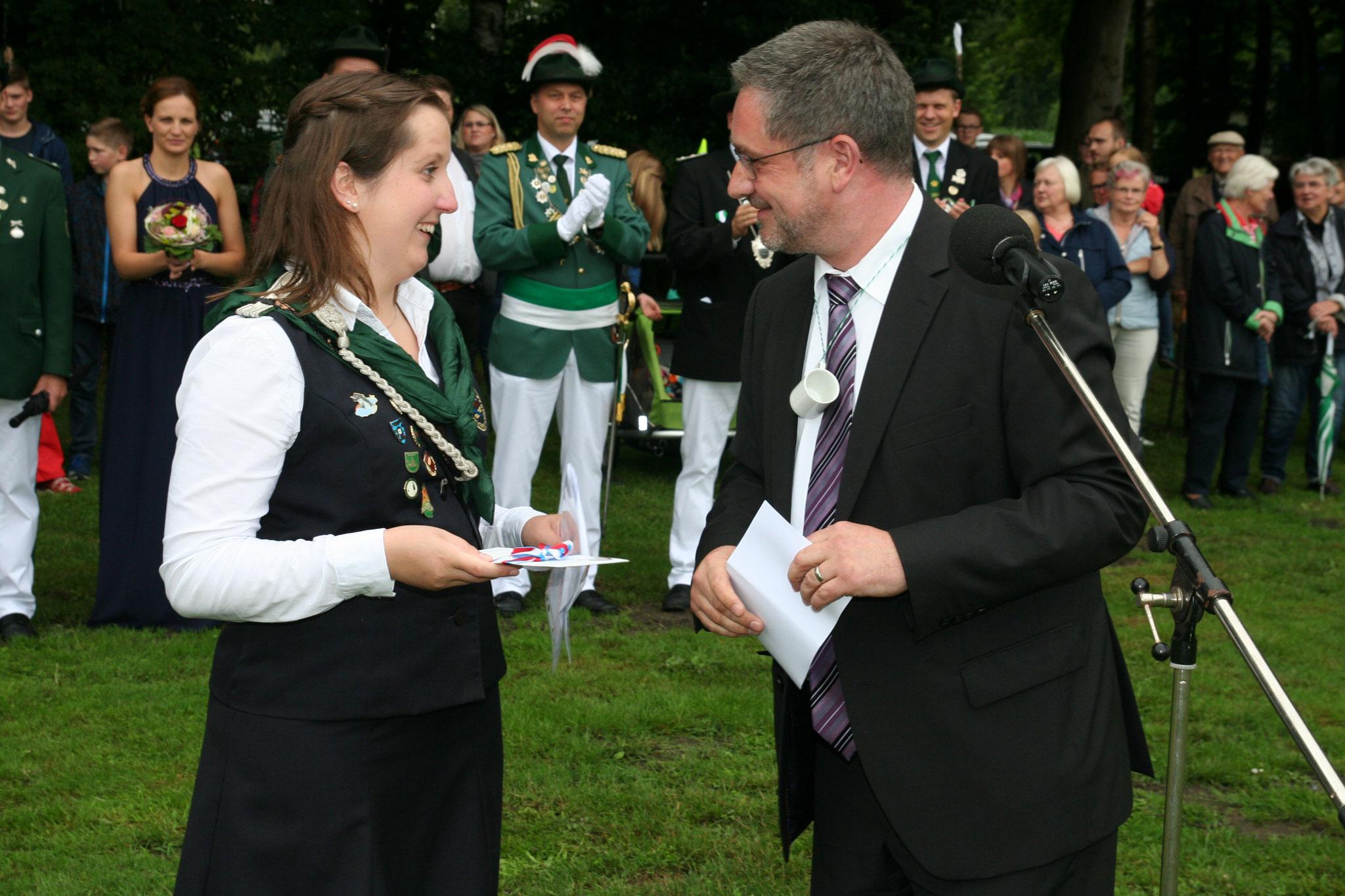 Begrüßung durch den Bürgermeister