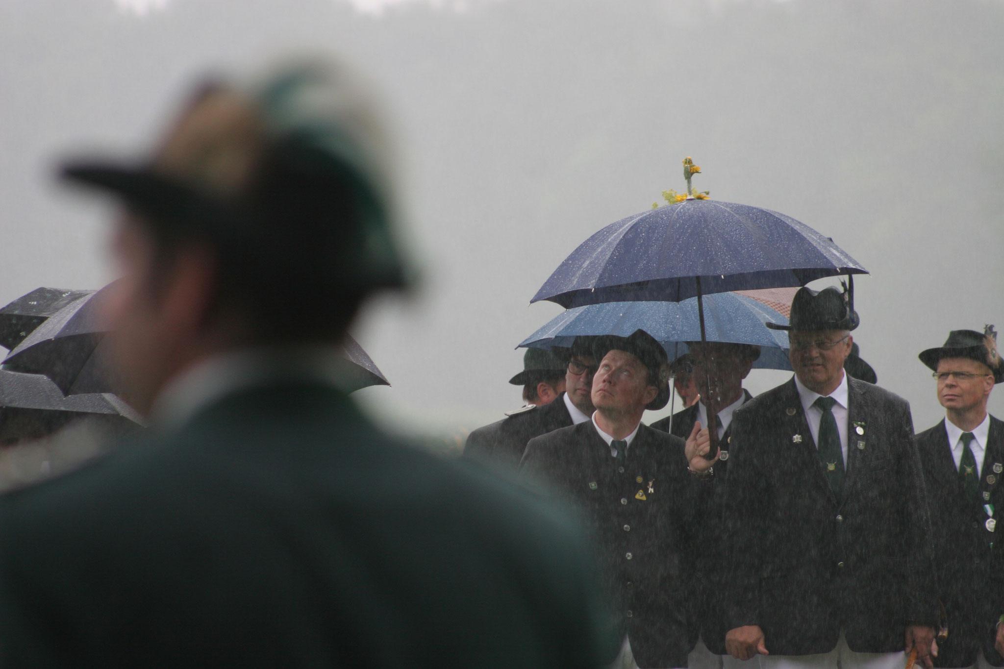 Antreten bei Regen