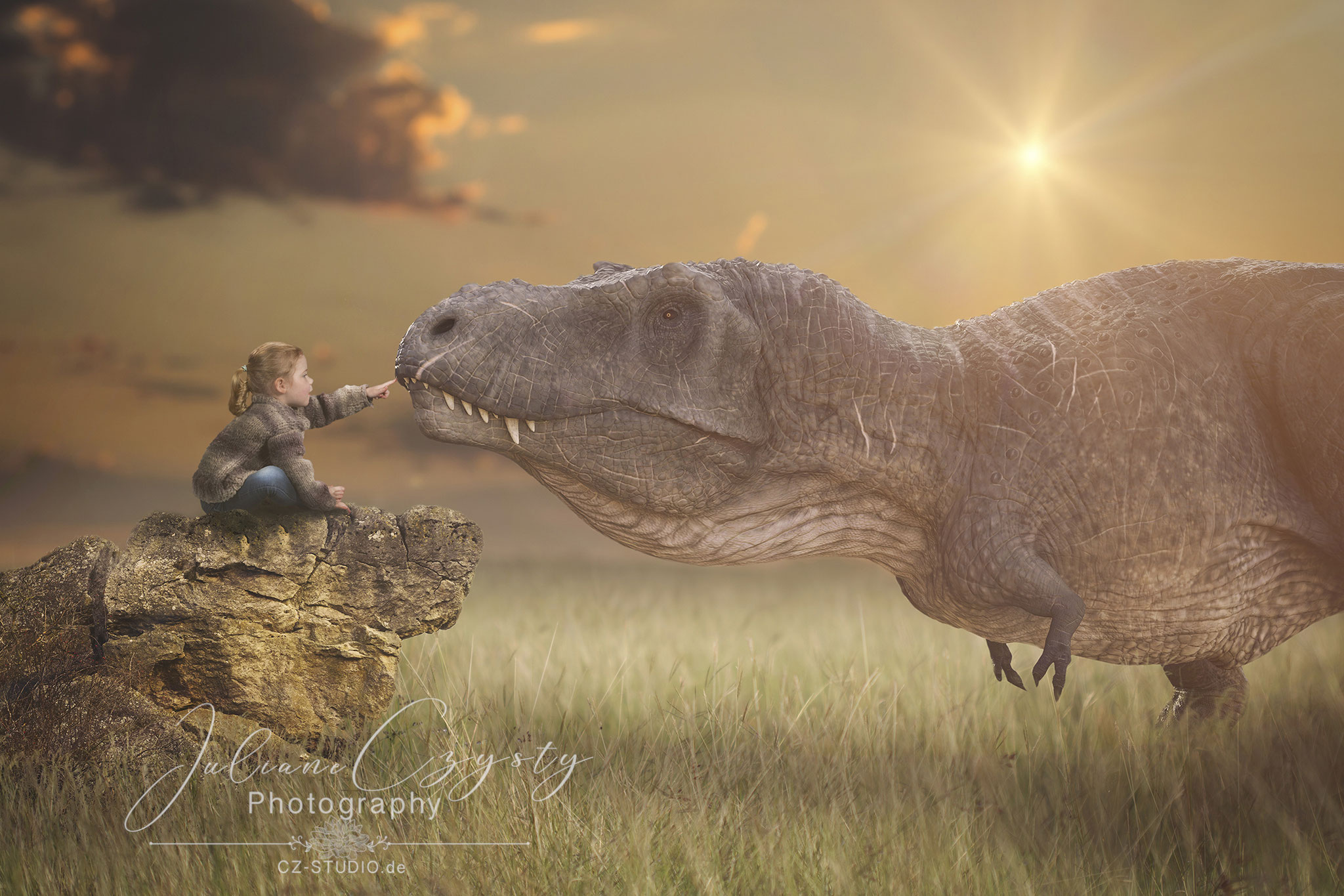 Special Shooting T-Rex Touch für jeden Dinosaurier Fan - aufwendiges Composing