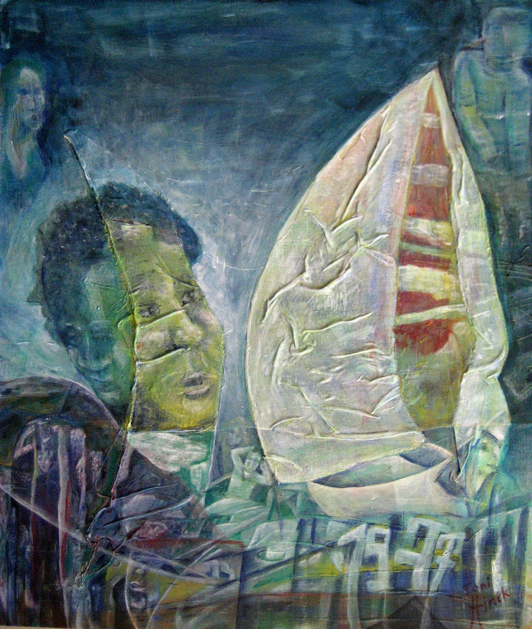 Dicke Berta  oder  1977  -  H68  -  60x70cm  -  Acryl auf Hartfaser  -  05.2015
