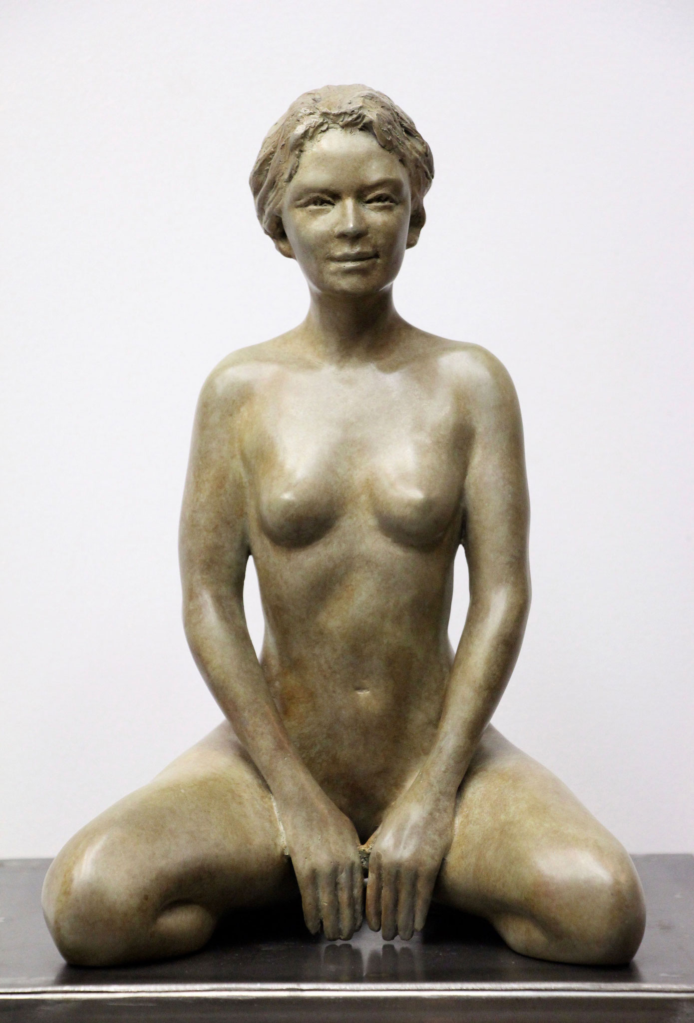 Sculpture Attend-là- Bronze  - Sébastien Langloÿs