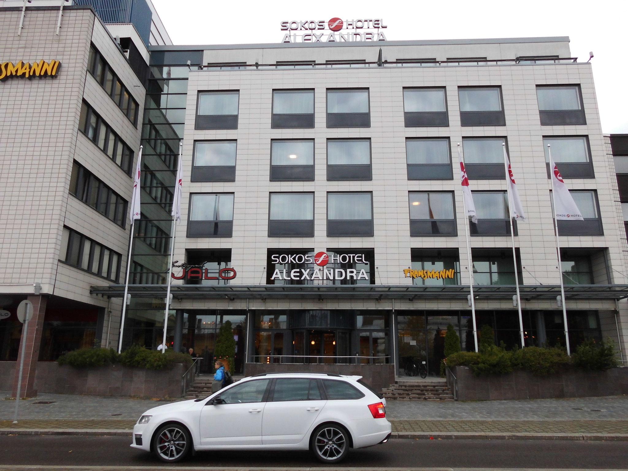 Letztendlich erreichten aber alle das gleiche Ziel, das Hotel Alexandra in Jyväskylä.
