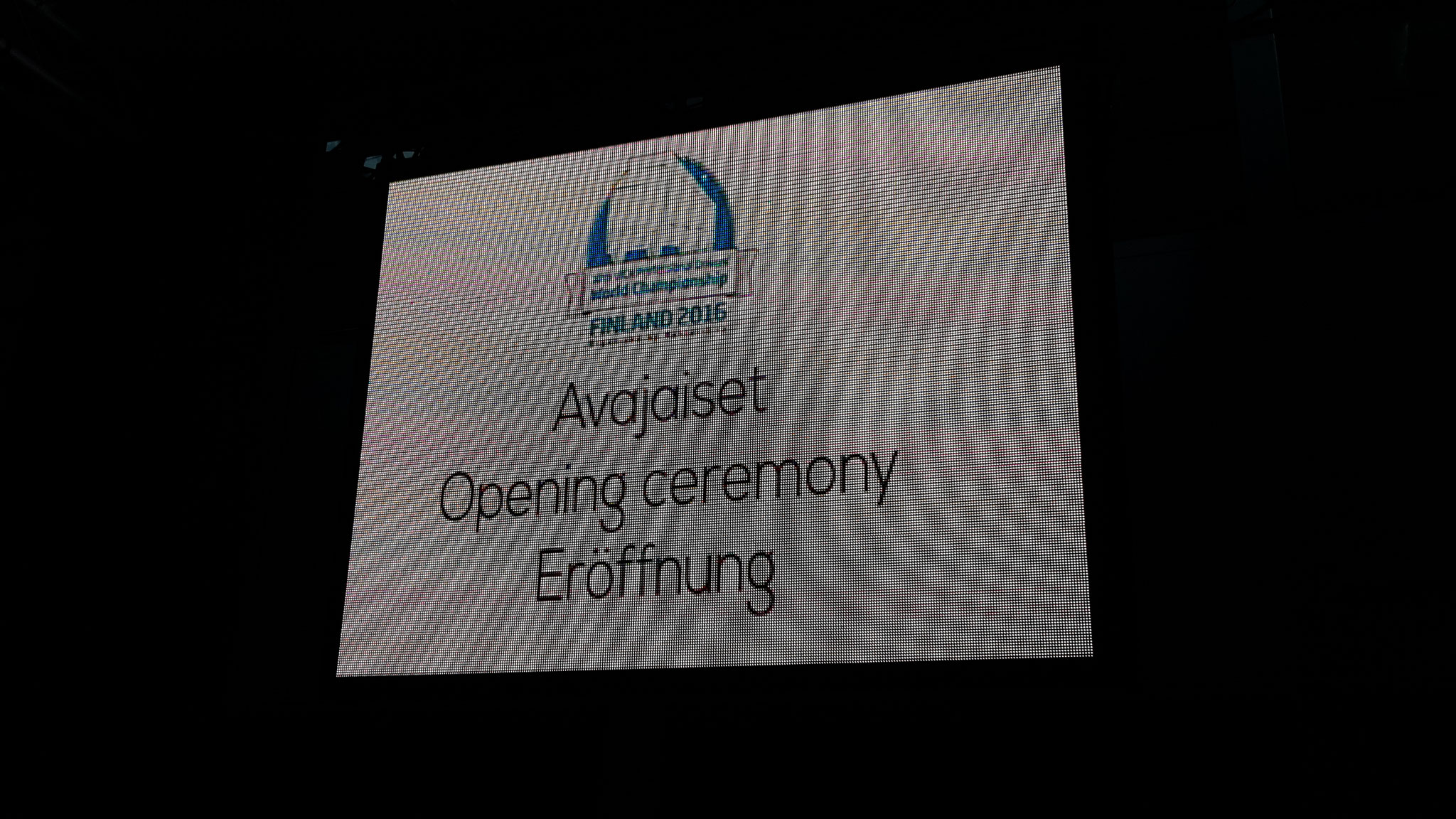 ...fand am Abend dann die Eröffnungszeremonie der Weltmeisterschaft statt.