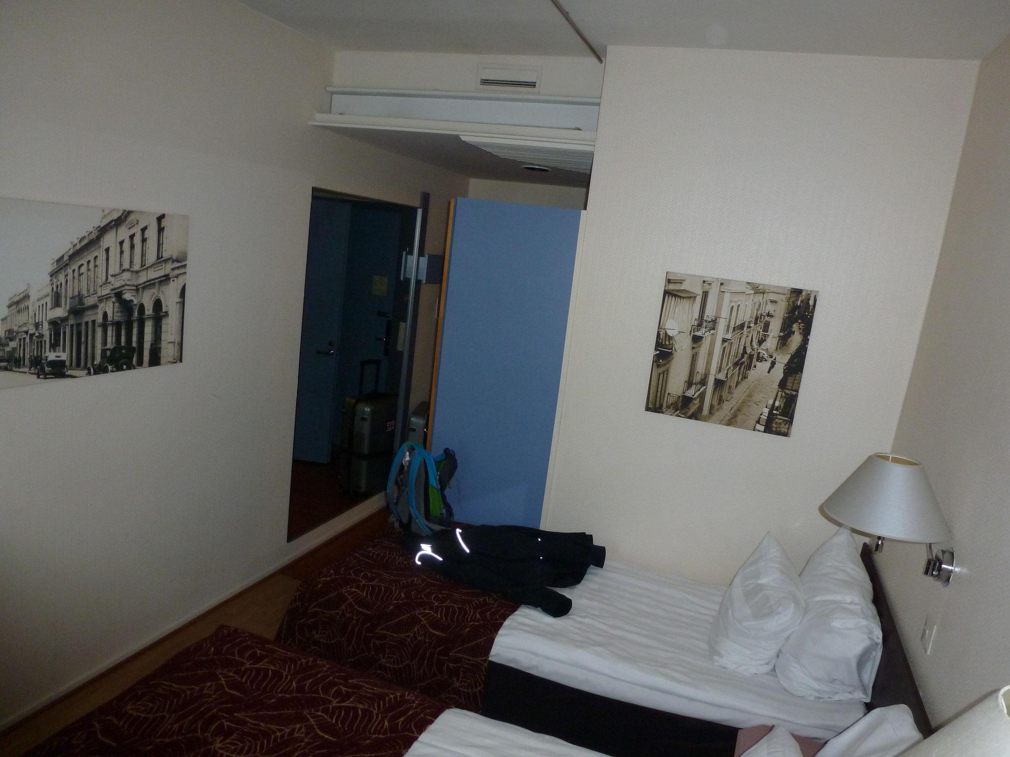 Die Hotelzimmer waren vielleicht etwas eng...