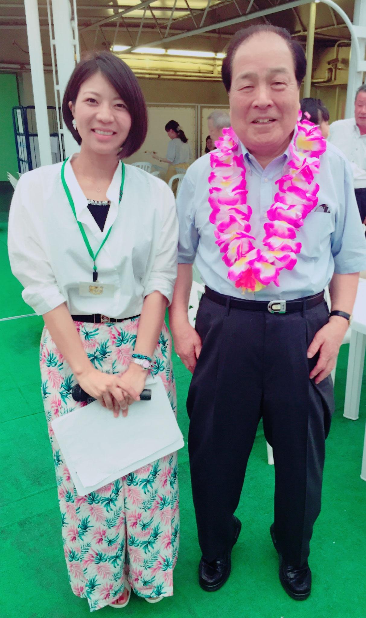 片山虎之助先生のビアパーティで司会をさせていただきました。