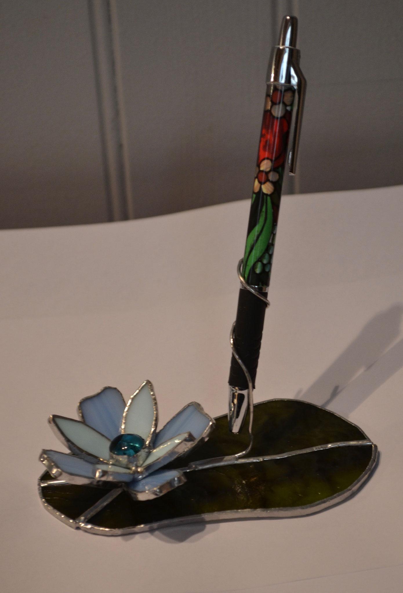 Pete stylo fleur bleue en Tiffany