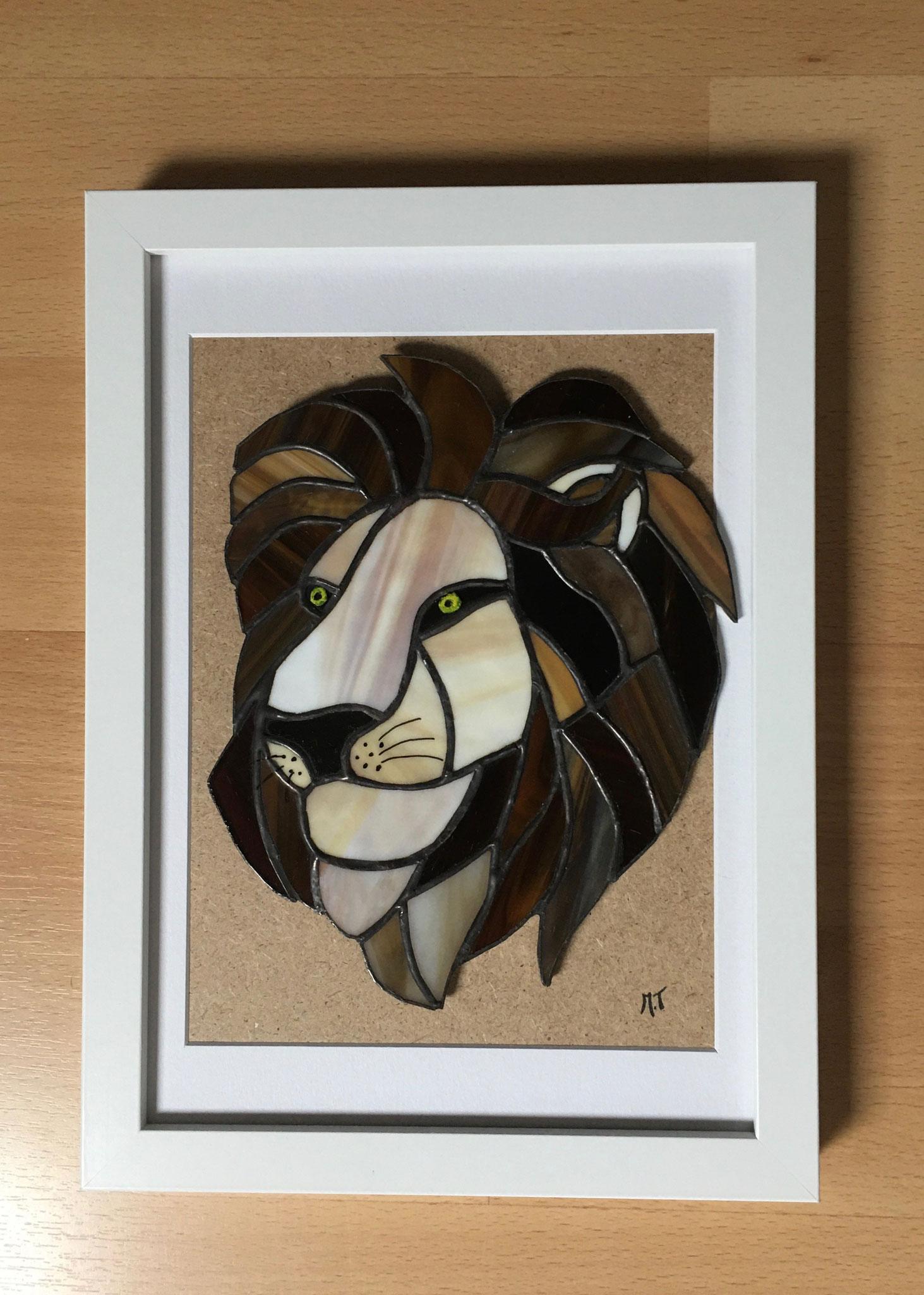 Tête de lion en Tiffany