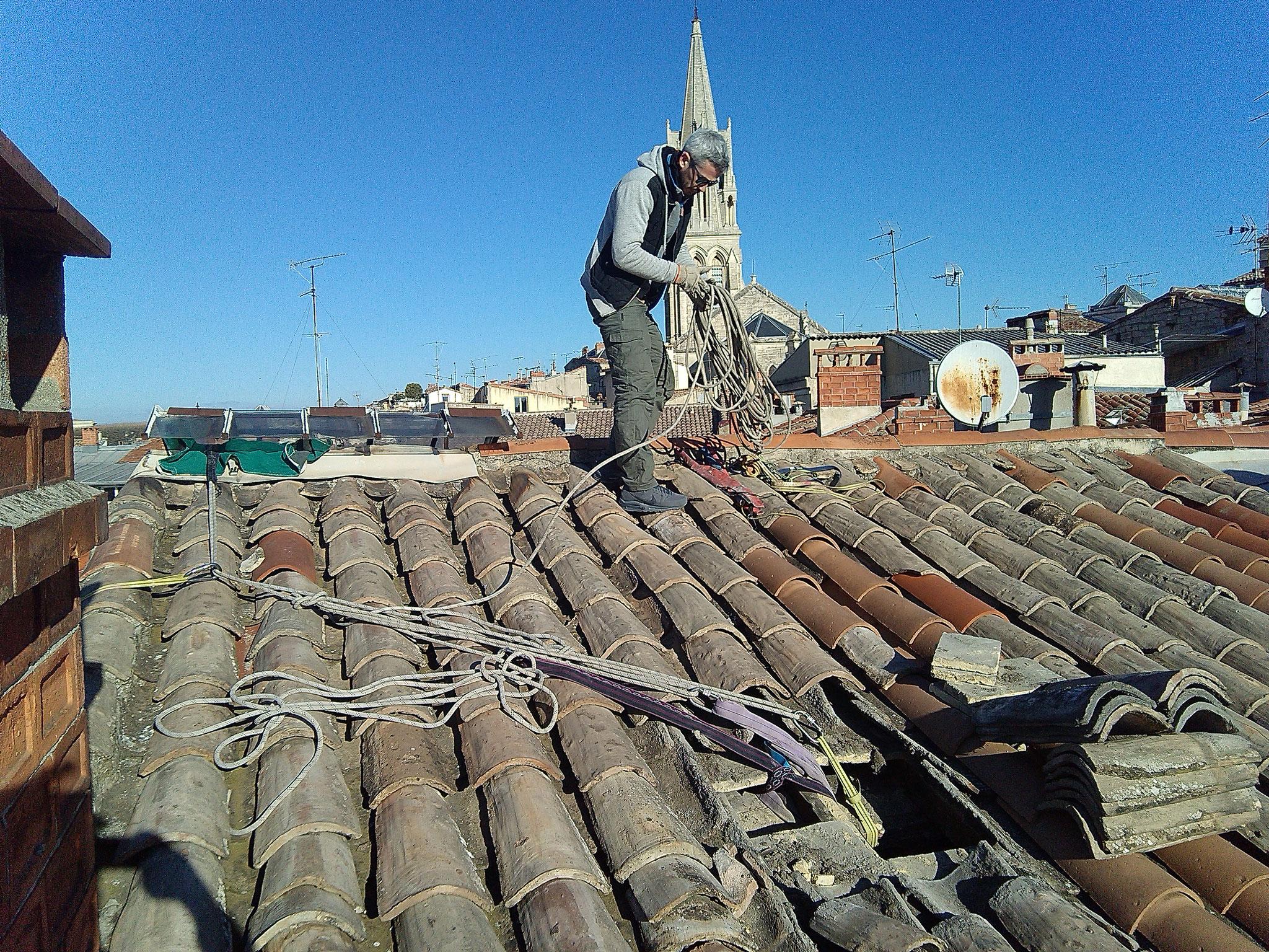 travaux sur corde centre historique