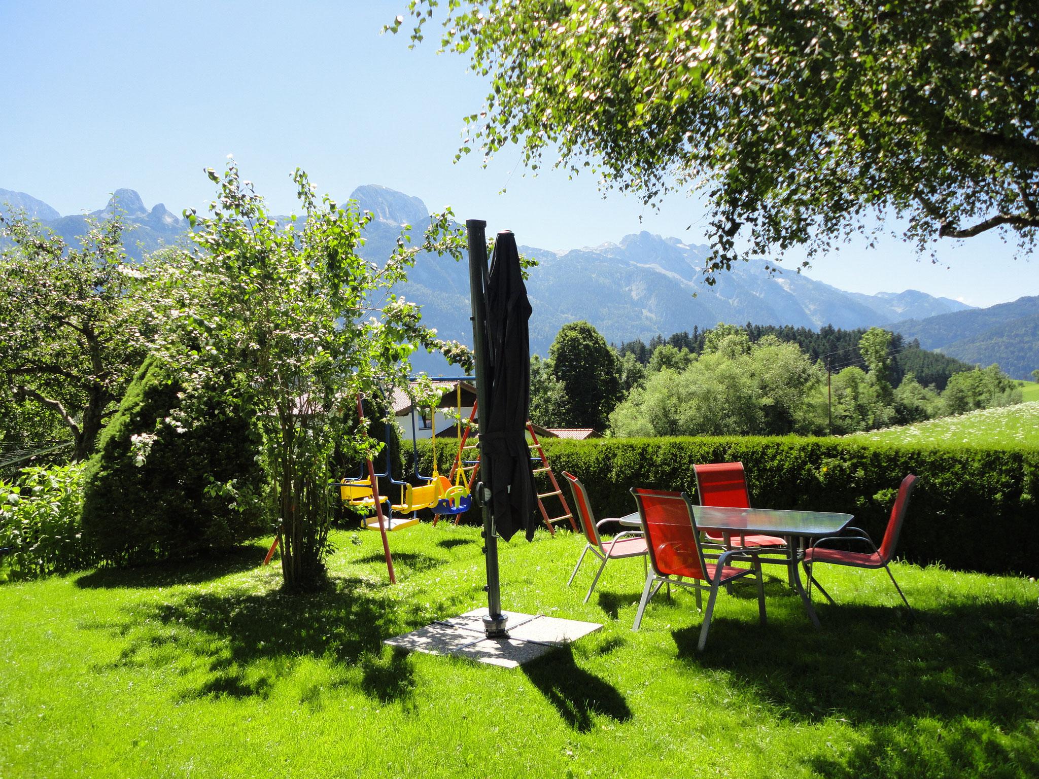 Garten Ferienwohnung Ronacher