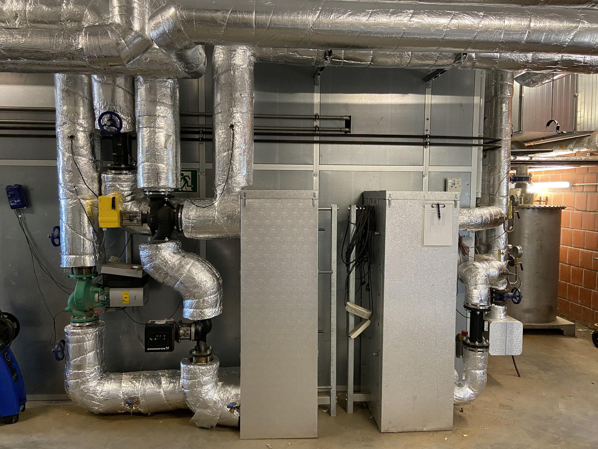Wärmetauscher zur Sicherheit und Abtrennung der Wärmeerzeuger