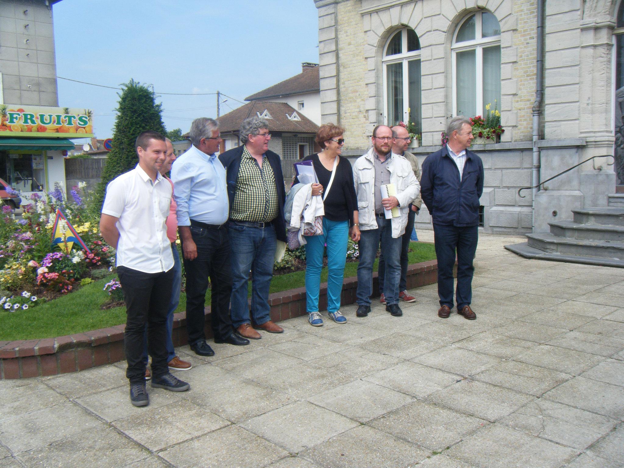 Berck-sur-Mer, le jury et Monsieur le Maire