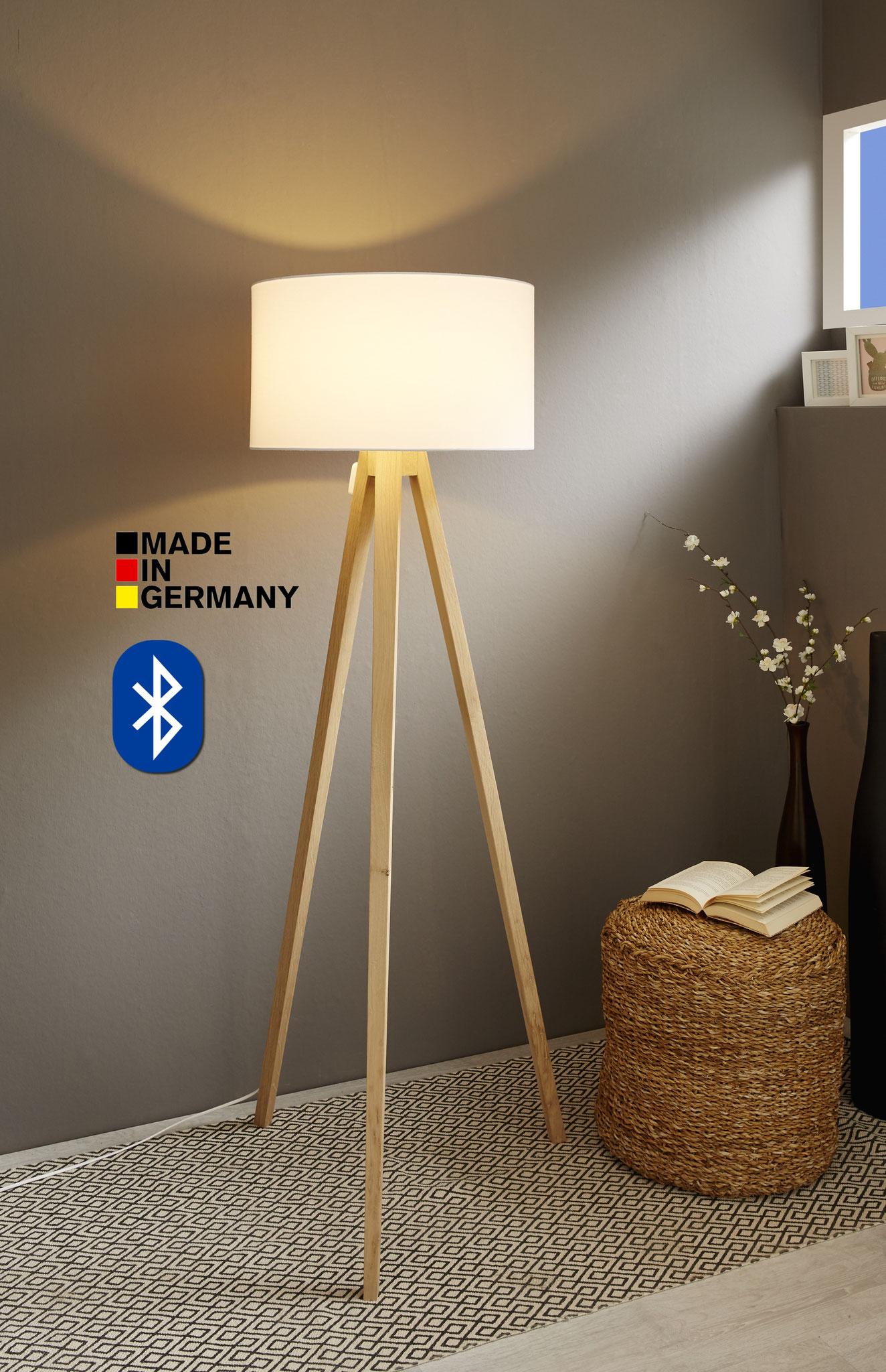 Stehlampe Tripod C12 Eiche Massiv Hesi Tecs Webseite