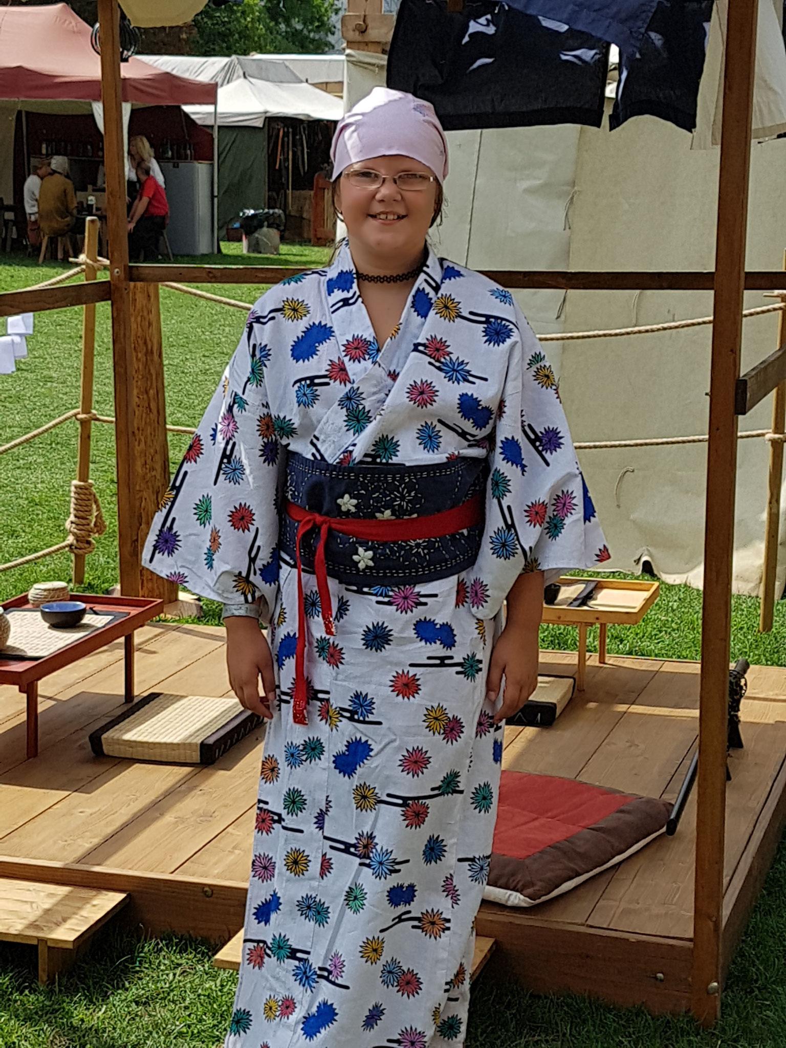 Obi mit Stickerei (Sashiko)
