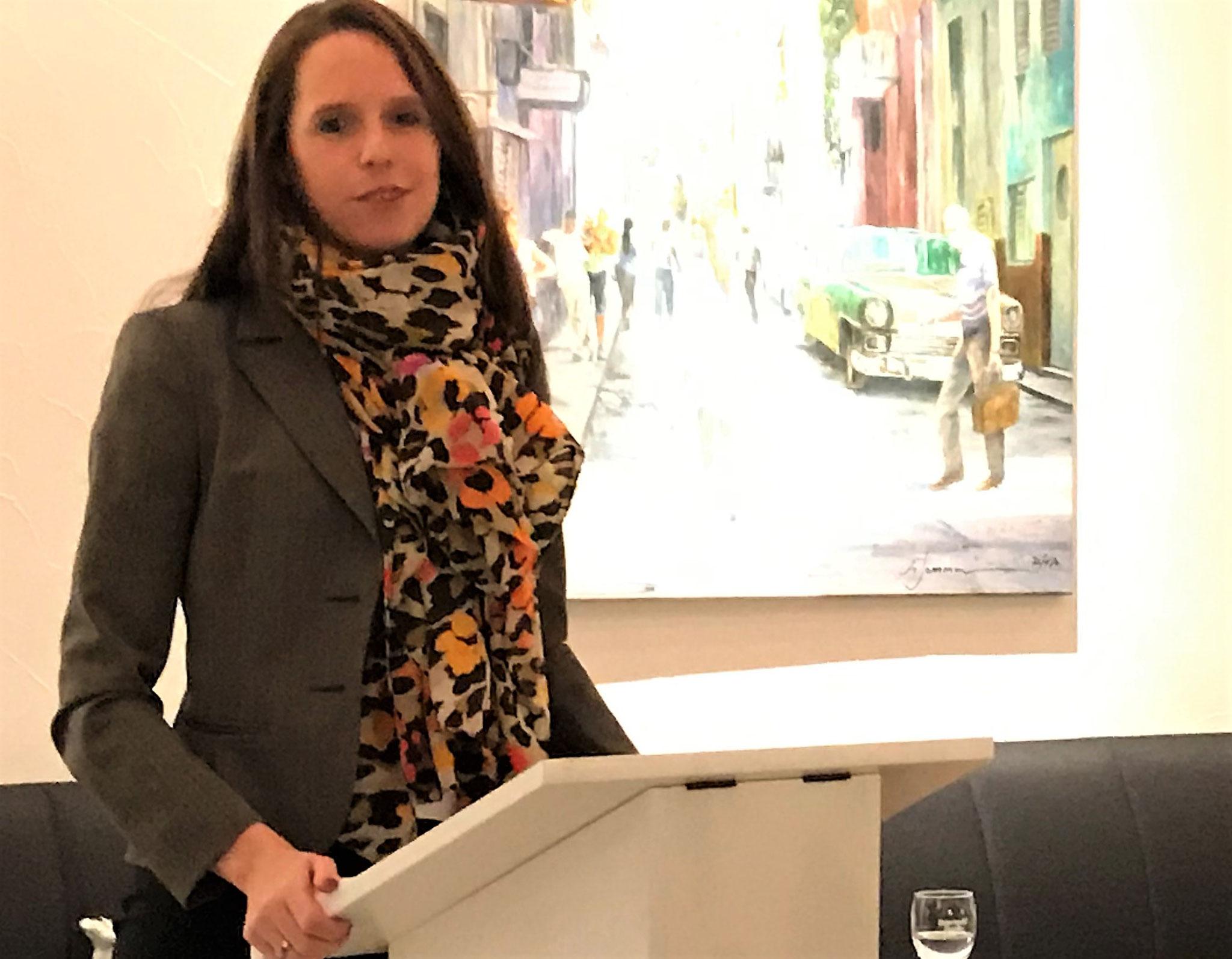 Die neue Landtagsabgeordnete Sandra Funken bedankte sich für das Vertrauen.