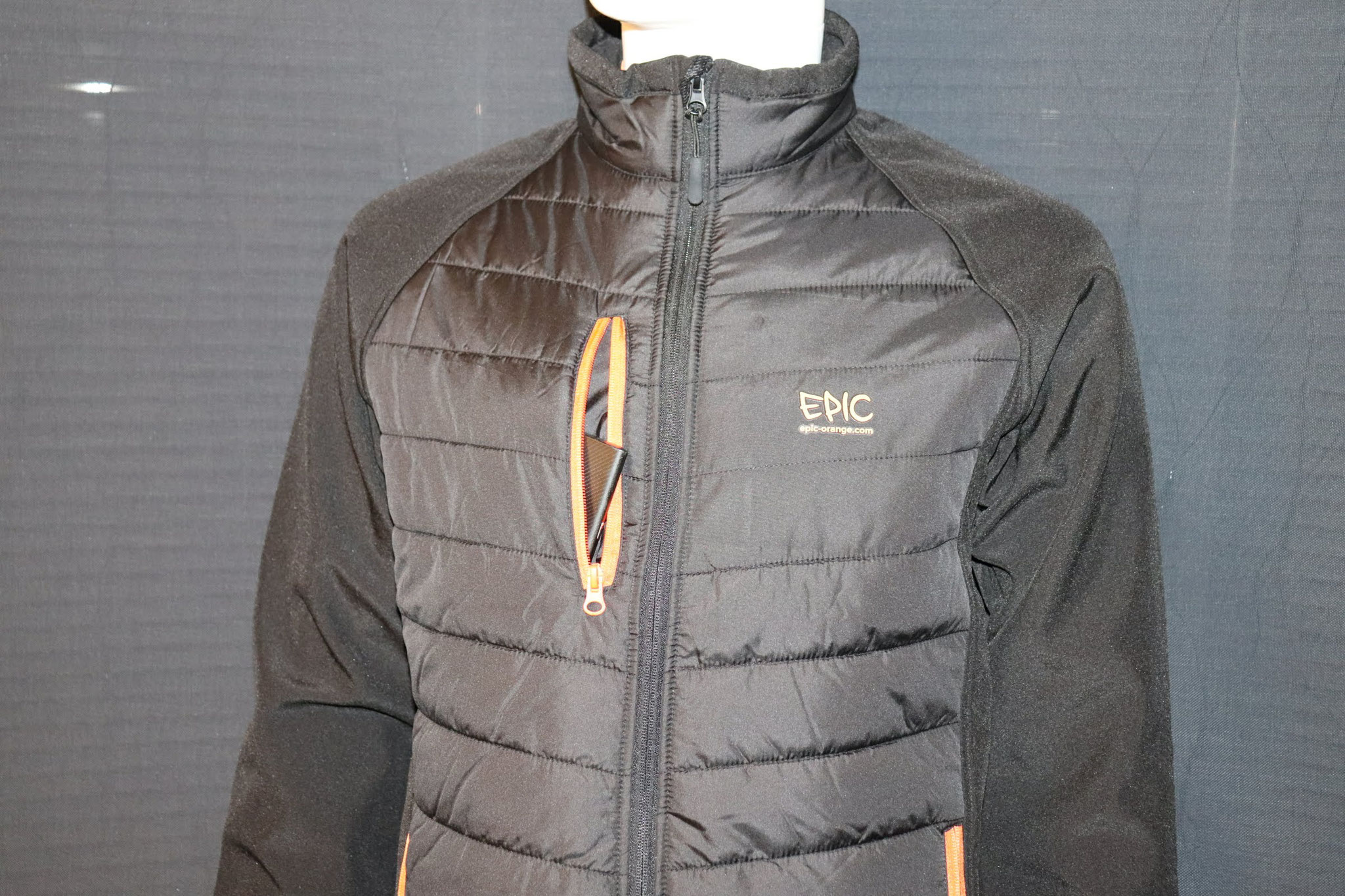 Custom Printed Padded Soft Shell Jackets - Front Zipped Pocket