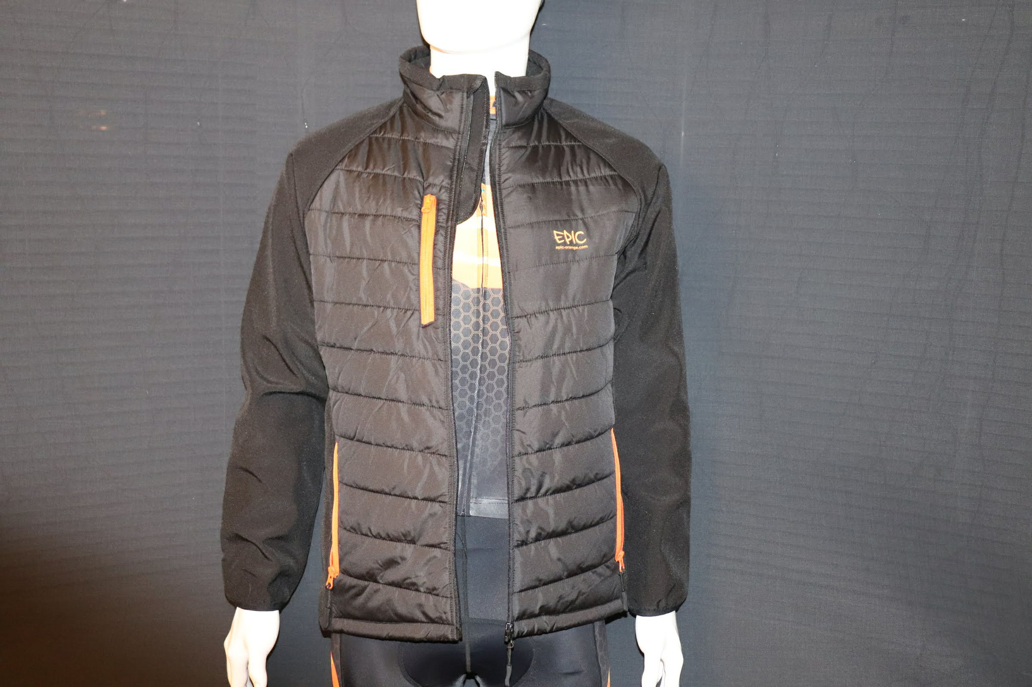 Custom Printed Padded Soft Shell Jackets - Unzipped