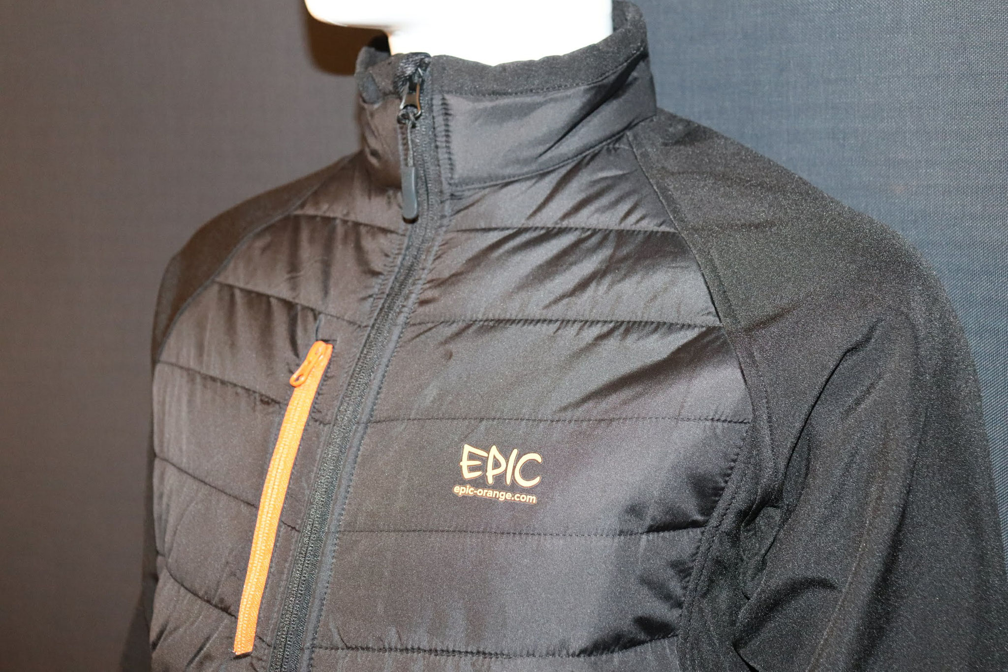 Custom Printed Padded Soft Shell Jackets - High Collar