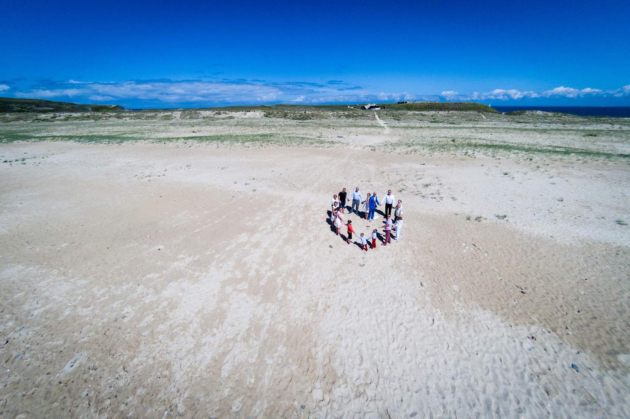 Des photographies de mariages qui sortent de l'ordinaire, Drone photo aérienne