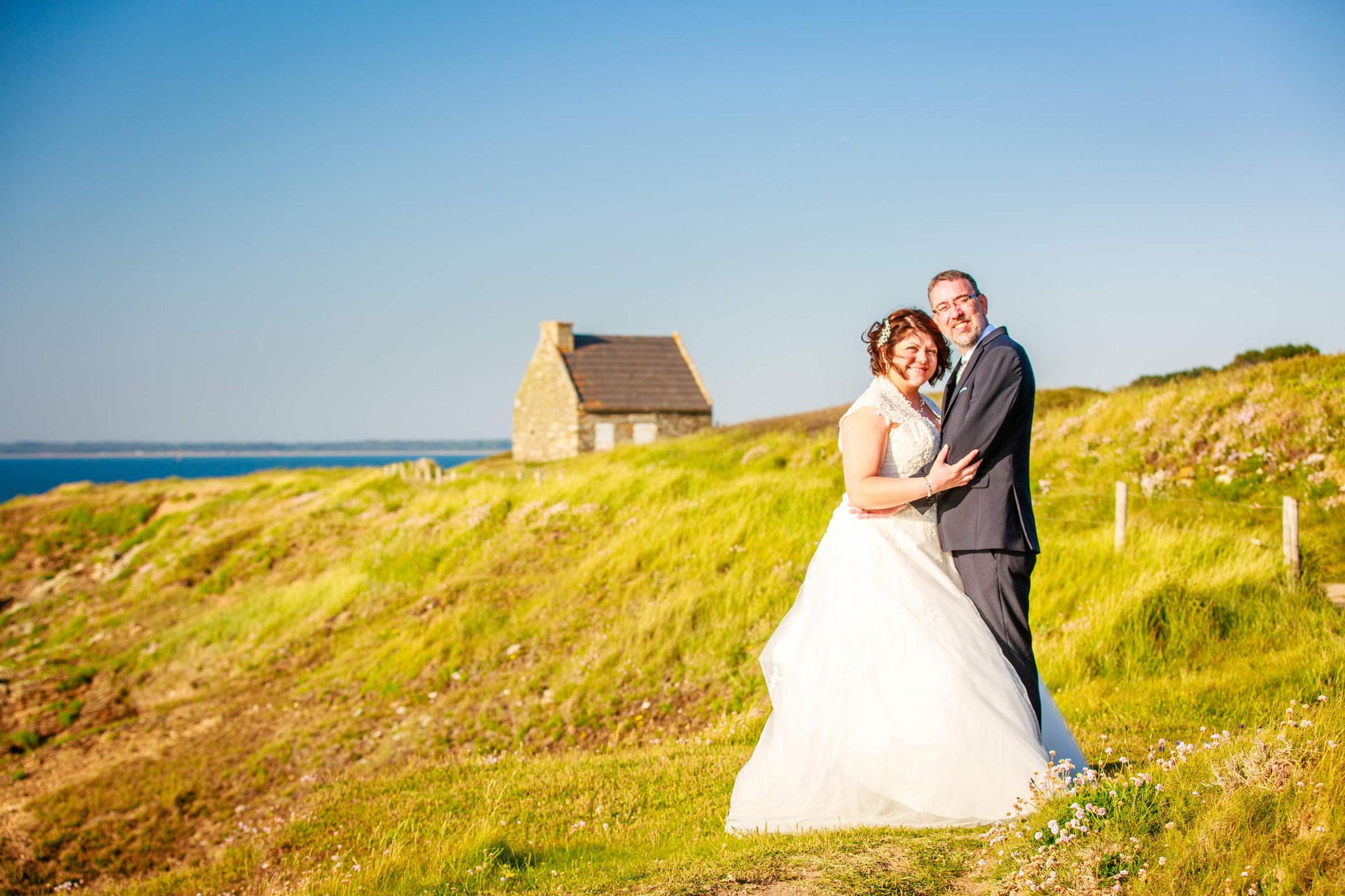 séance photo de mariage en apparté sur la cote sauvage
