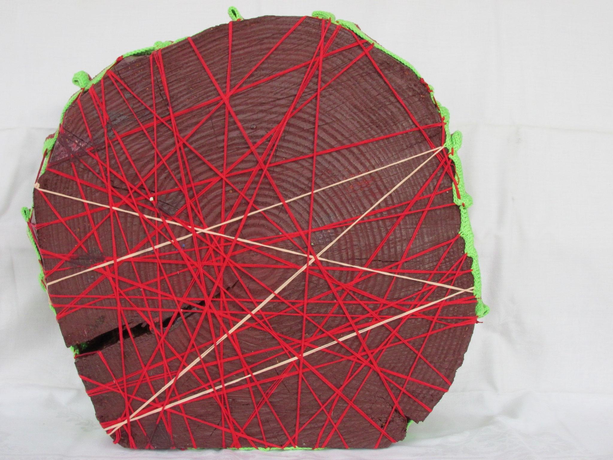Verletzungen - Baumscheibe mit Baumwolle - Rückseite