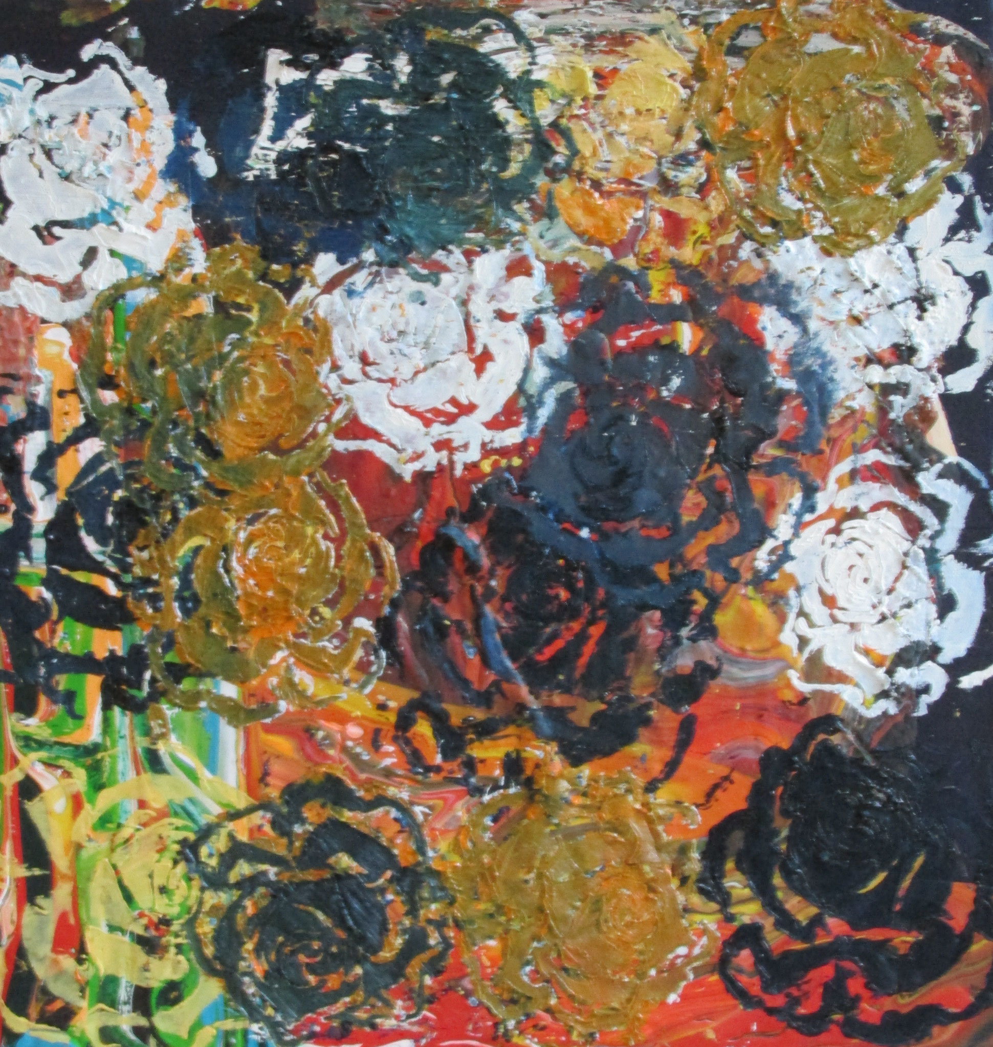 Rosen in Öl 50 x 50 cm