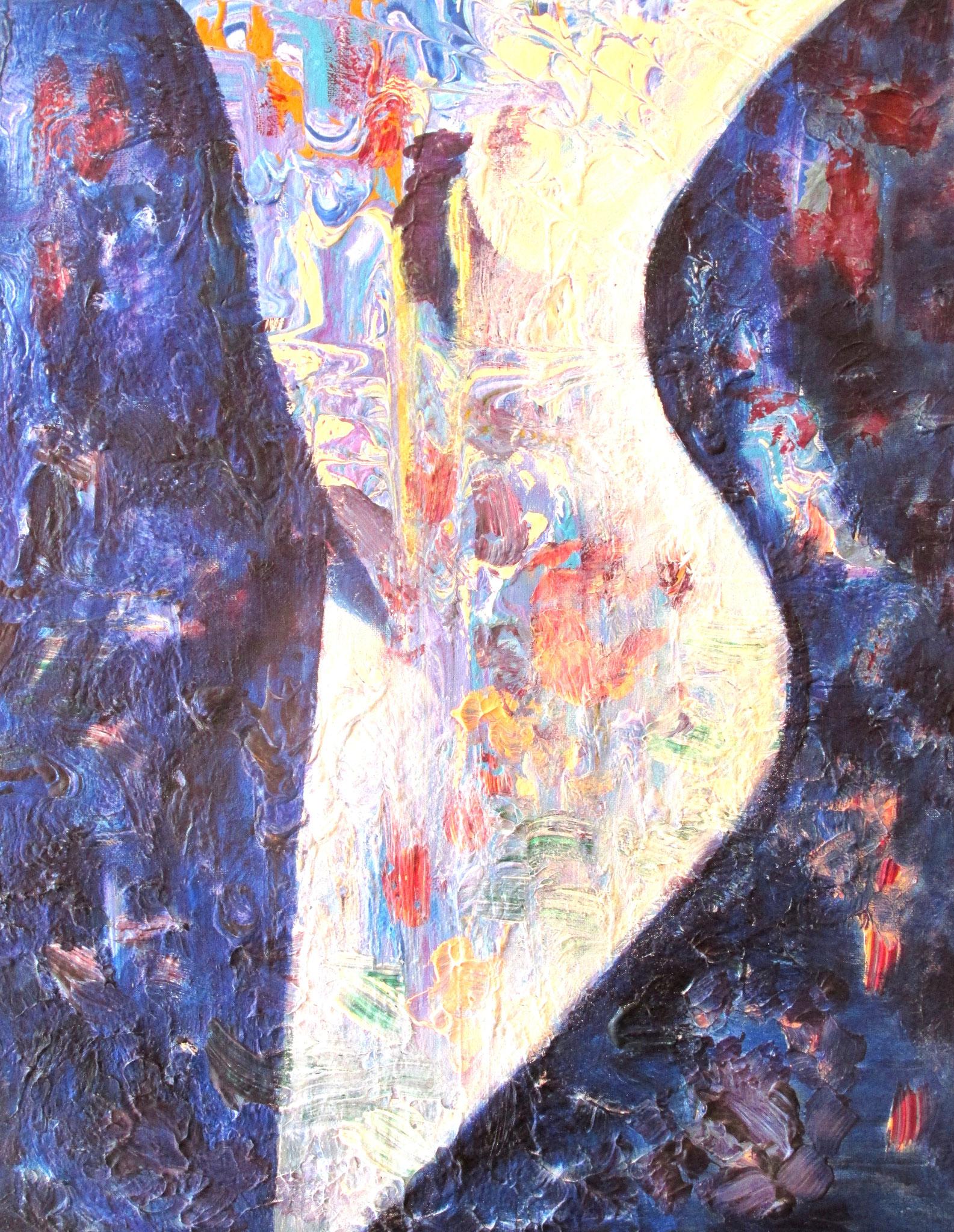 Blau Weiß 40 x 60 cm