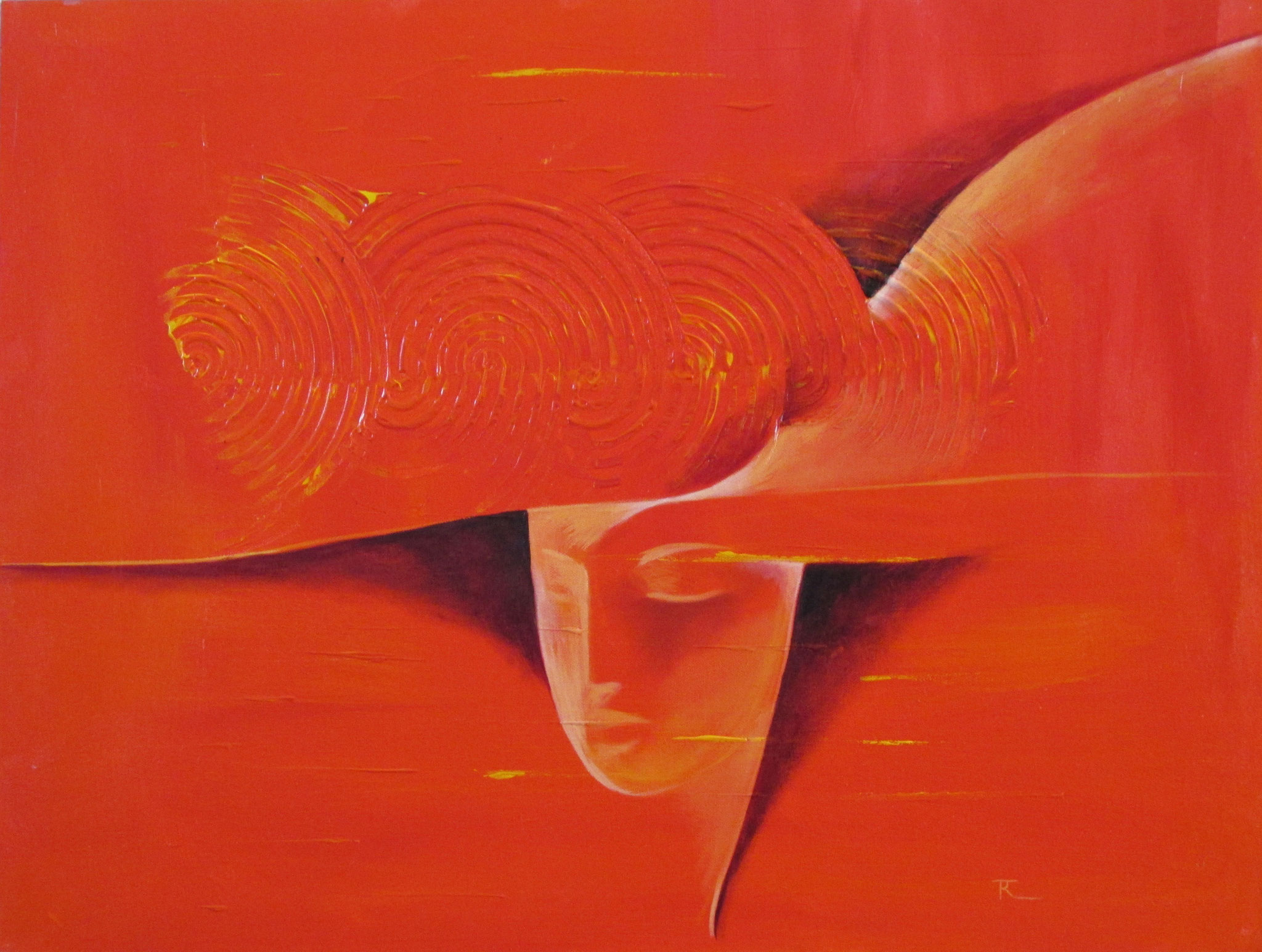 In Rot II 60 x 80 cm