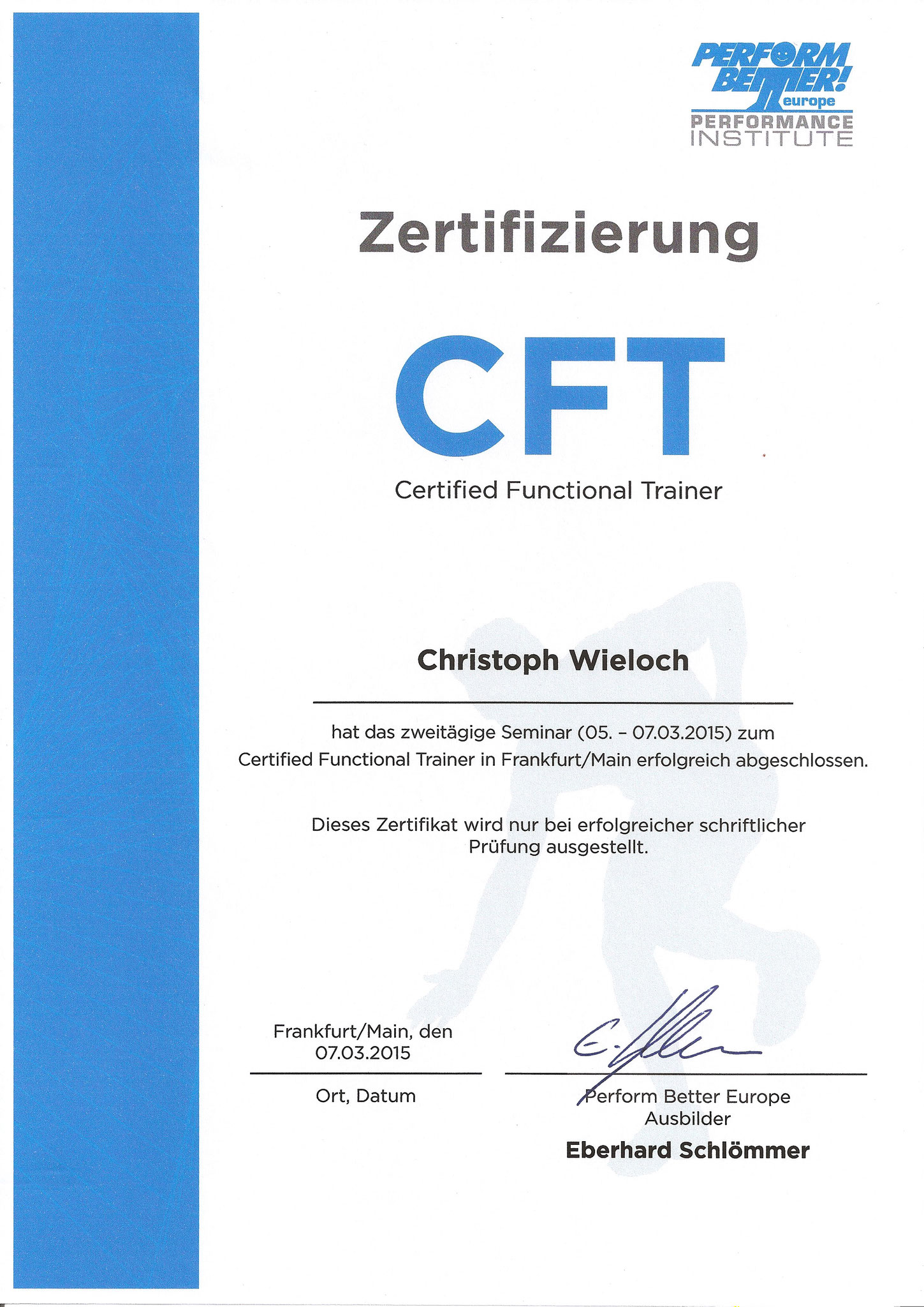 Functional Trainer Christoph Wieloch
