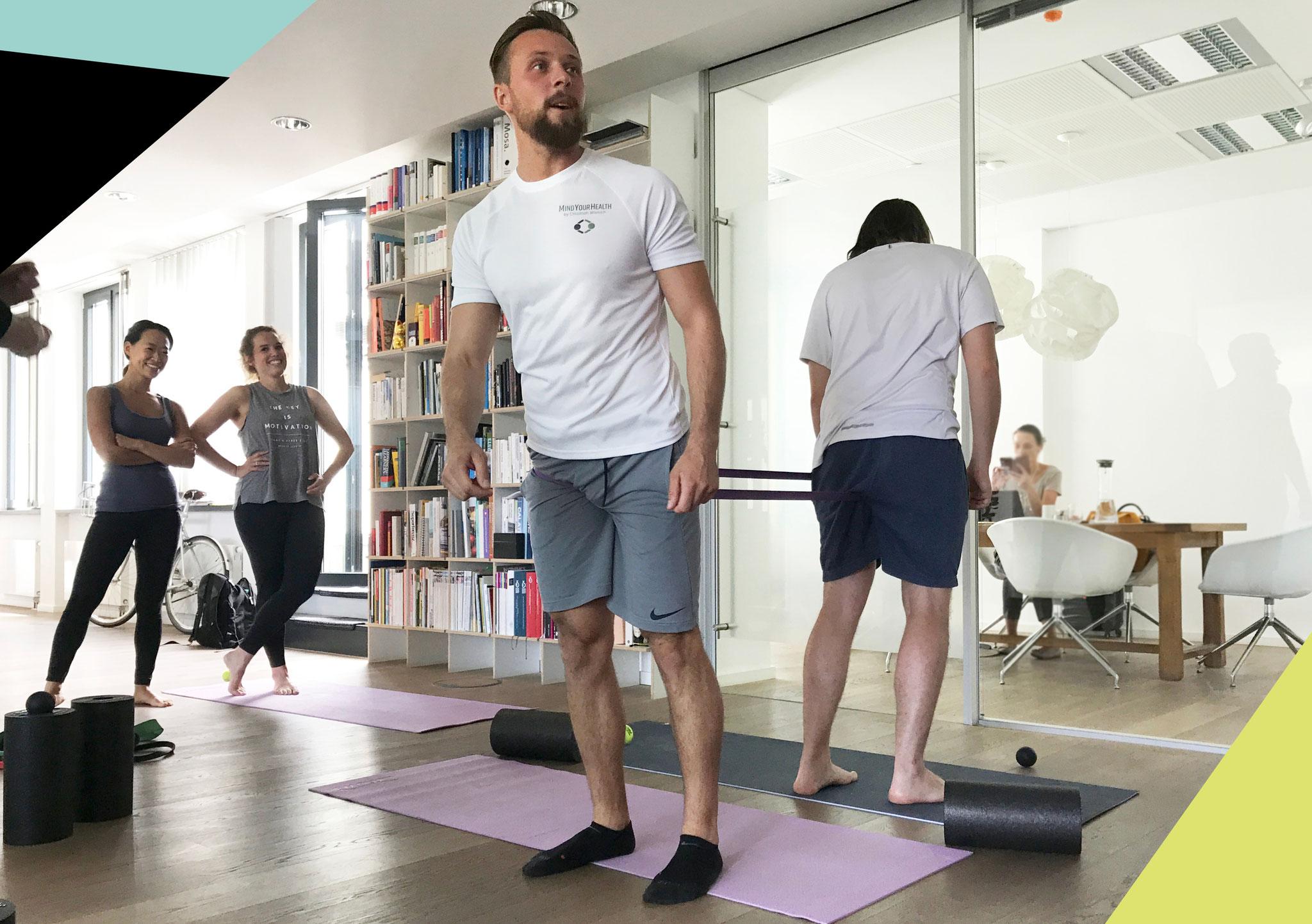 Haltungskorrekturen, Mobilität und Sport