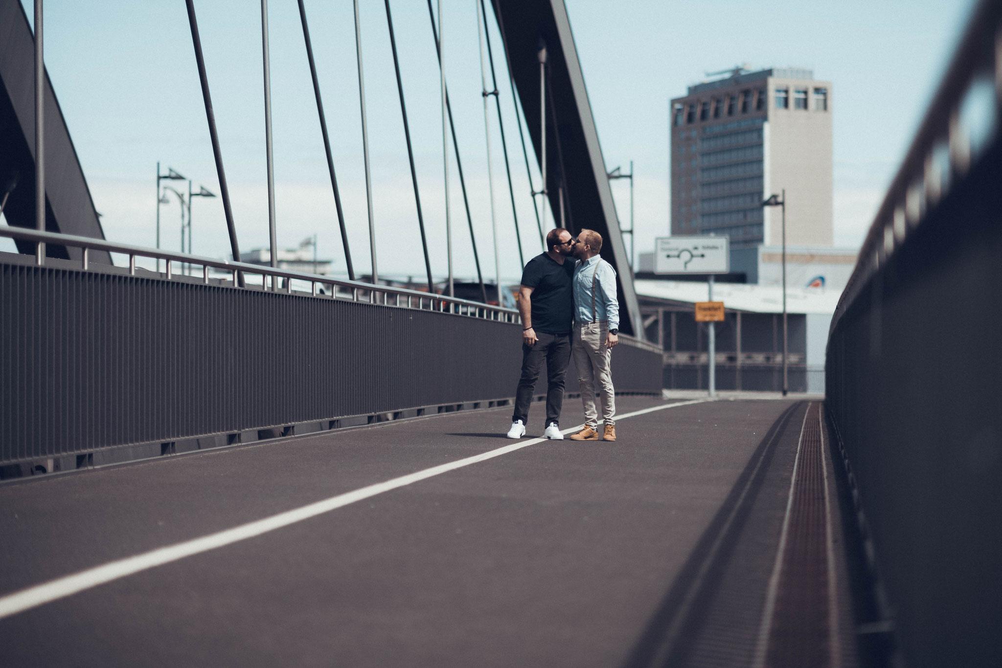 Love-Story Aufnahmen als Probe-Shooting vor der Hochzeit