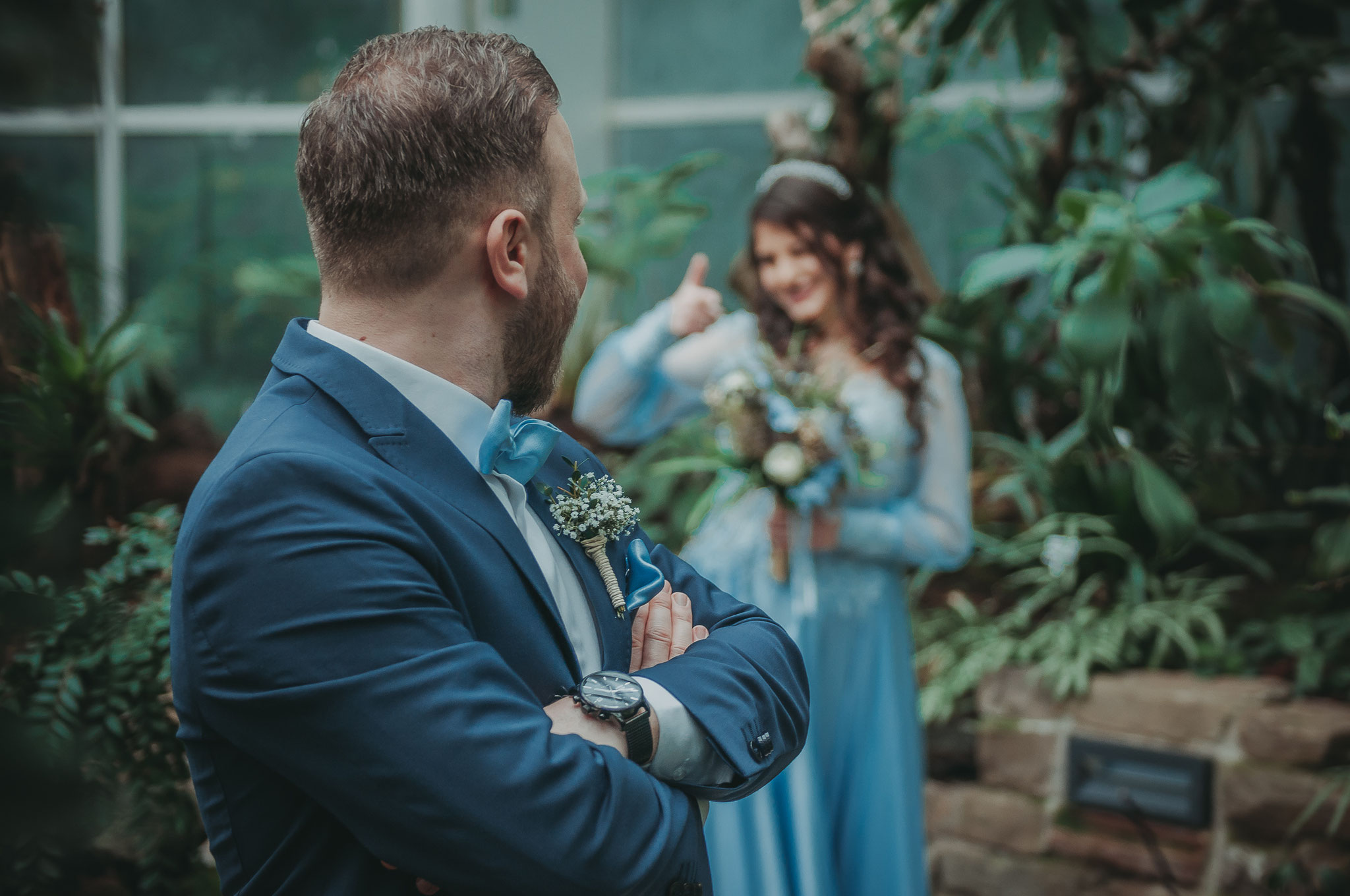 Shooting im Palmengarten am Tag der Verlobung