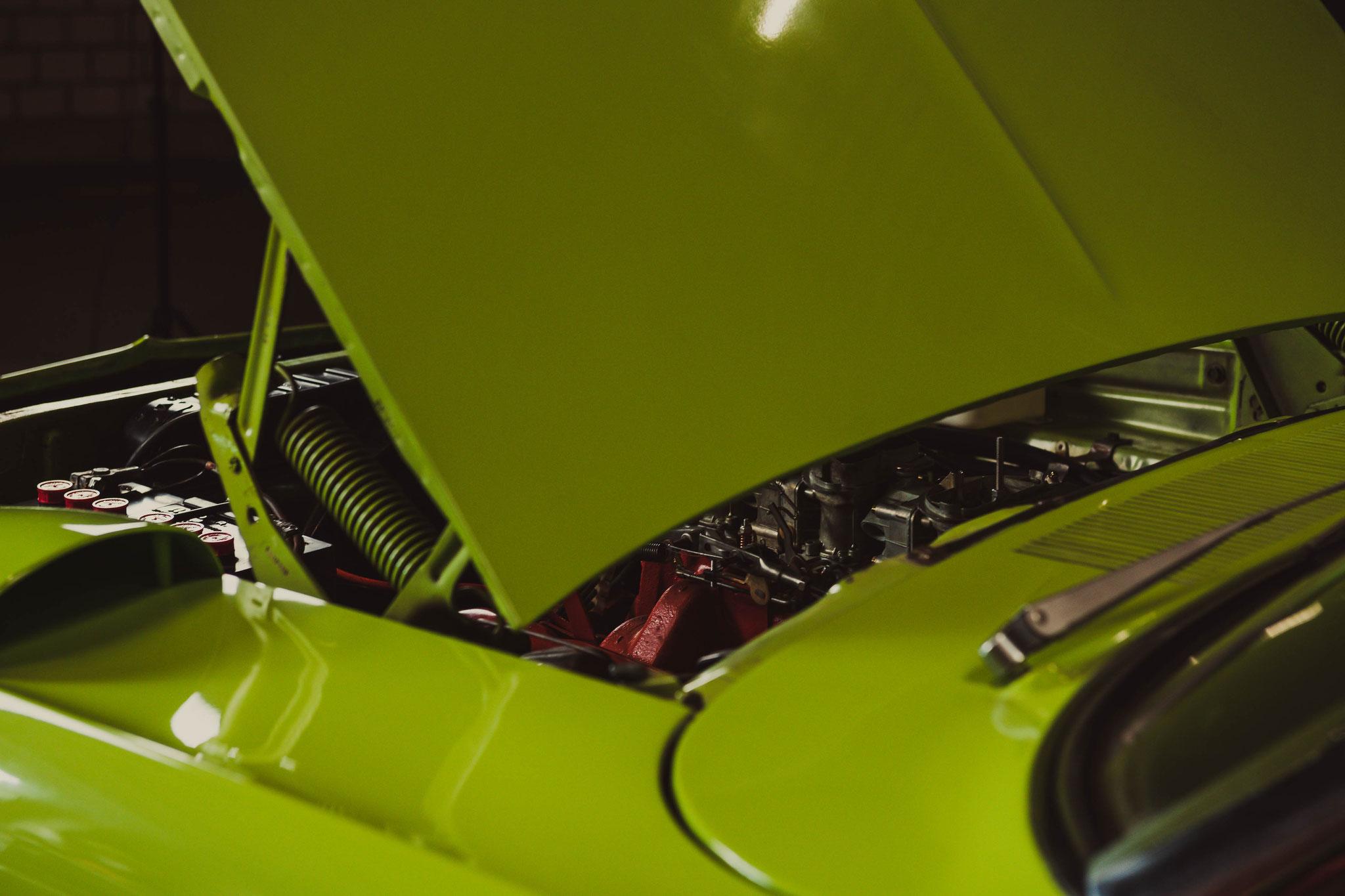 Plymouth Superbird aus der Sich des Fahrers