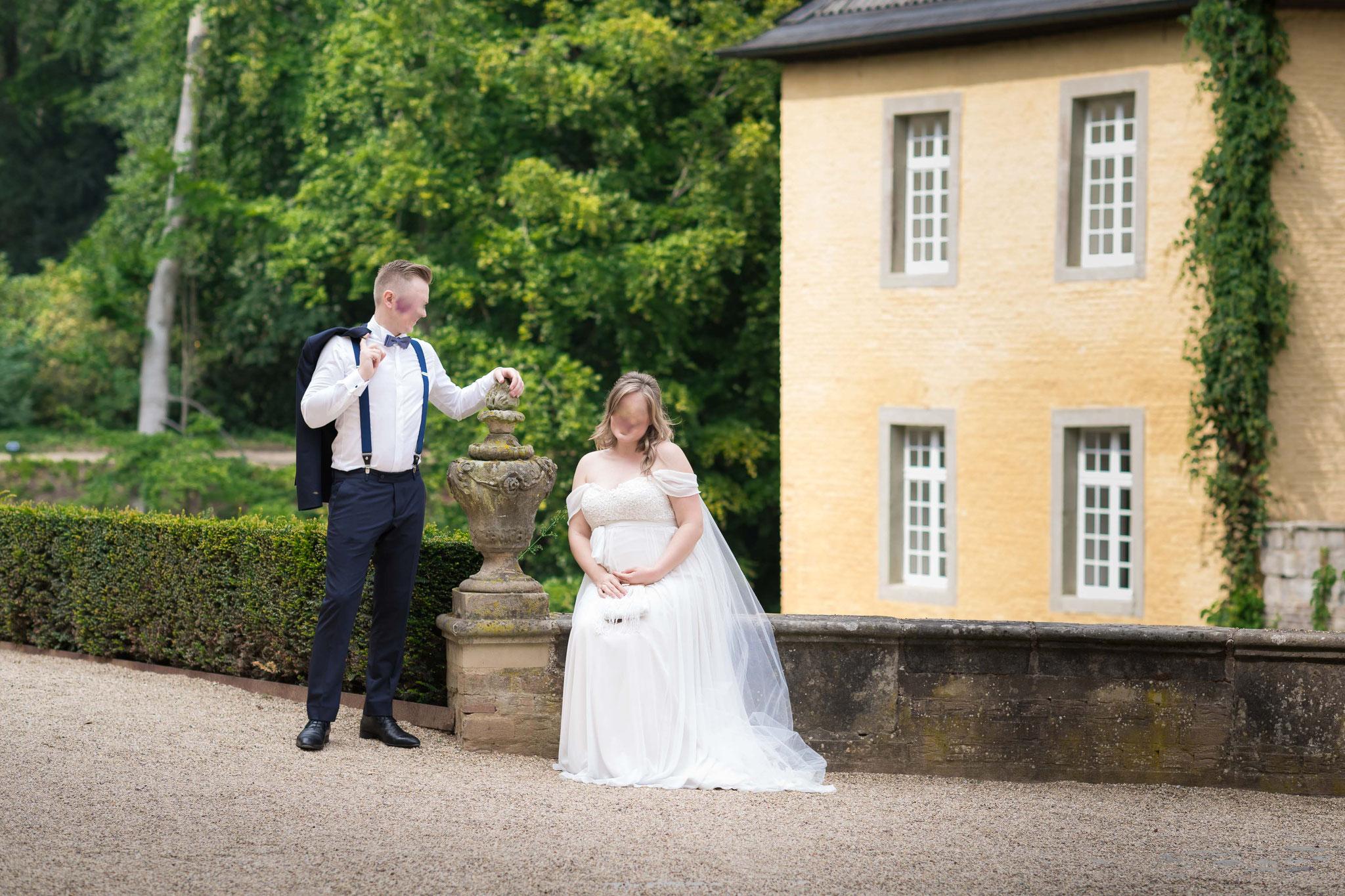 Brautpaar Shooting im Schlosspark Dyck in Neuss
