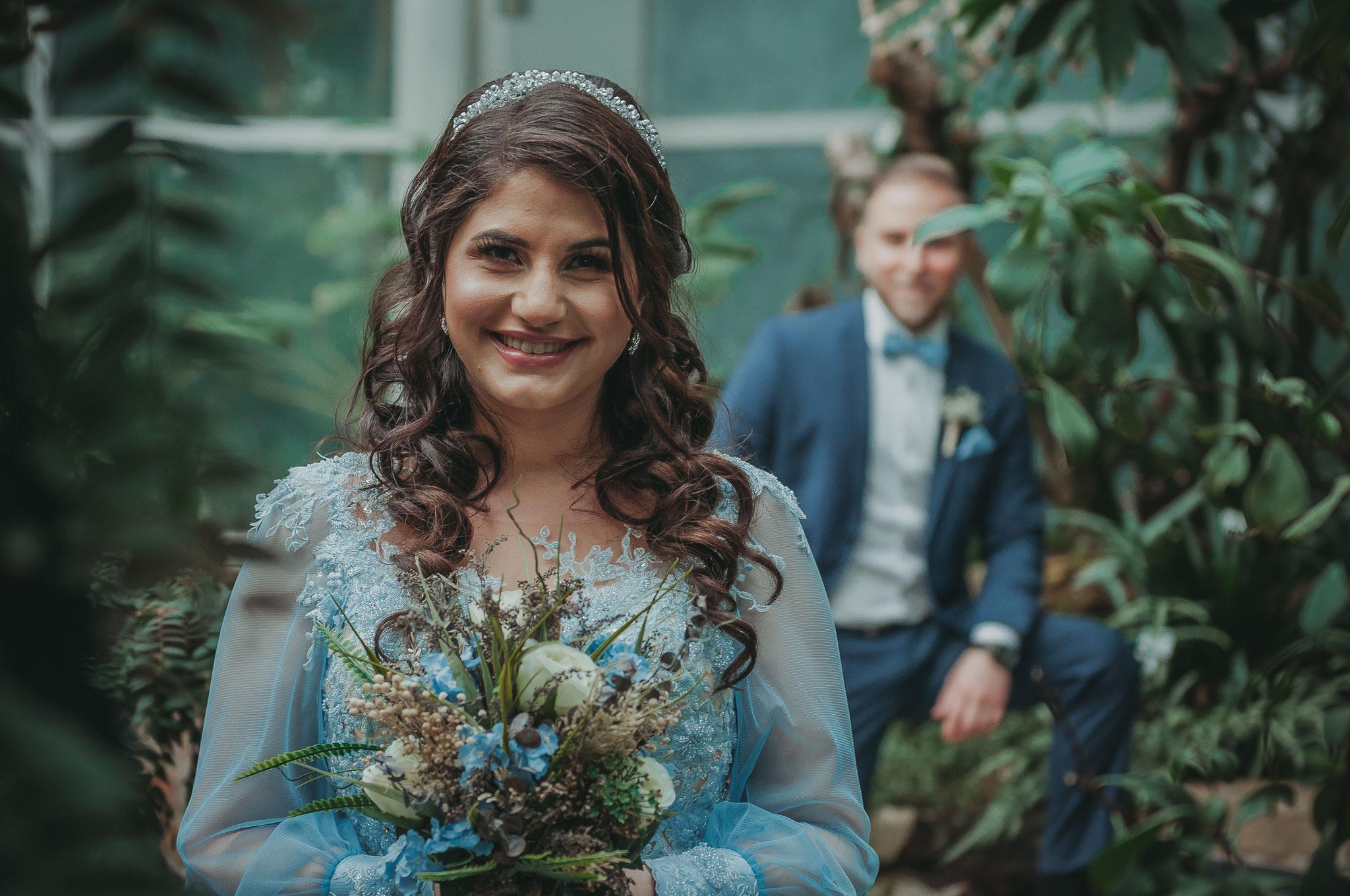 Shooting im Frankfurter Palmengarten für verliebte und verlobte Paare
