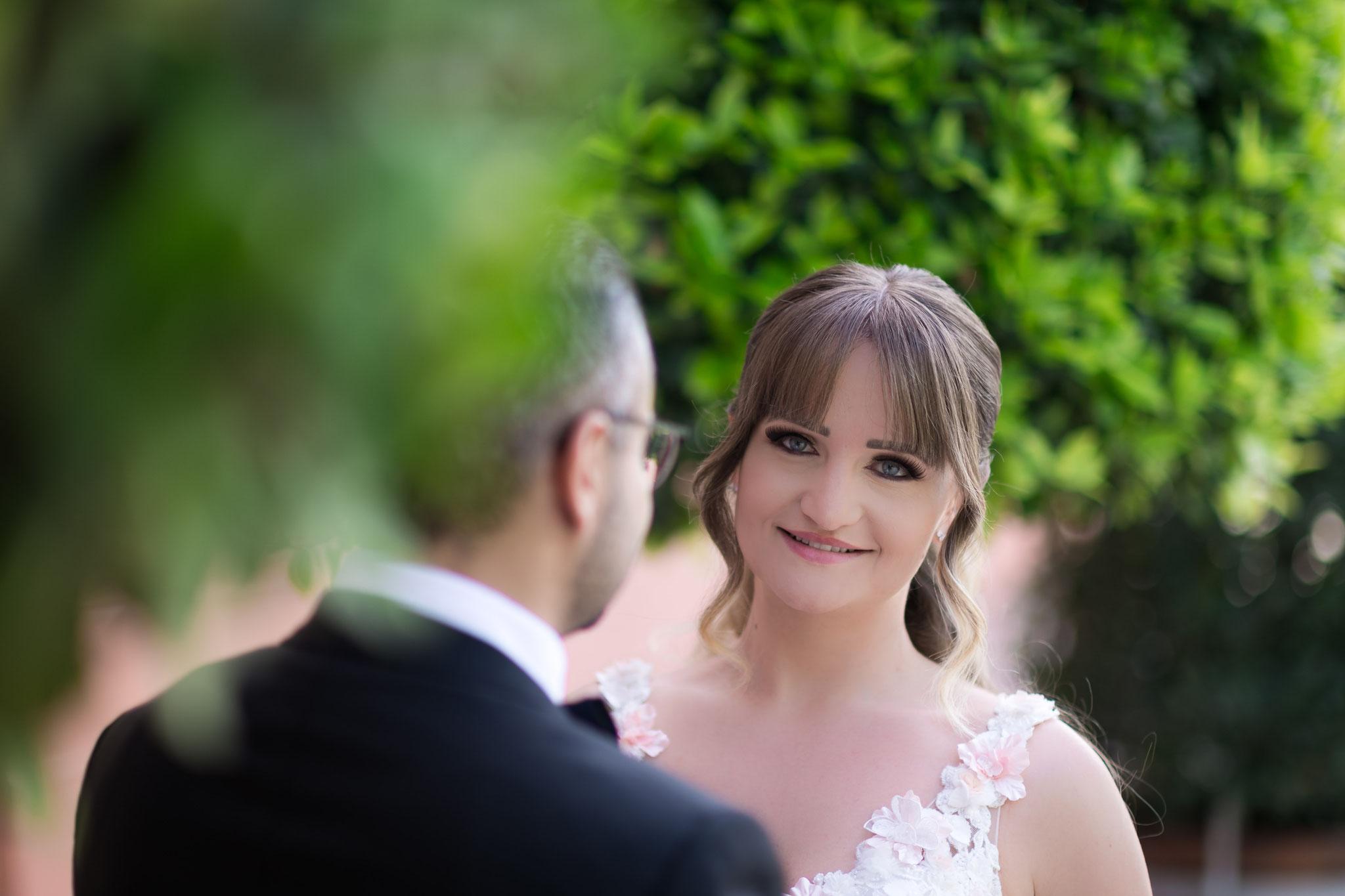 Brautpaar Aufnahmen aus unterschiedlichen Perspektiven
