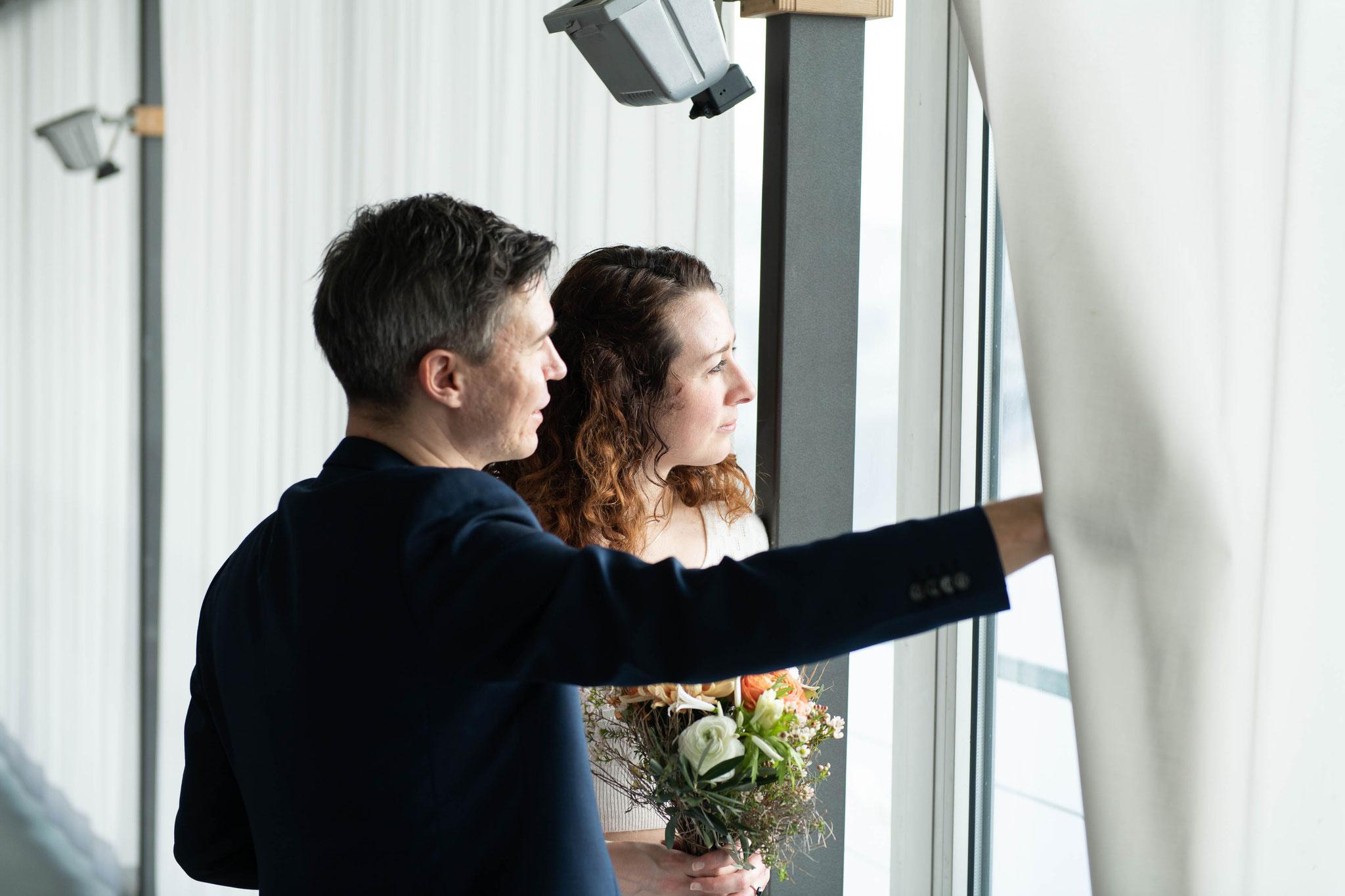 Brautpaar ganz zu zweit