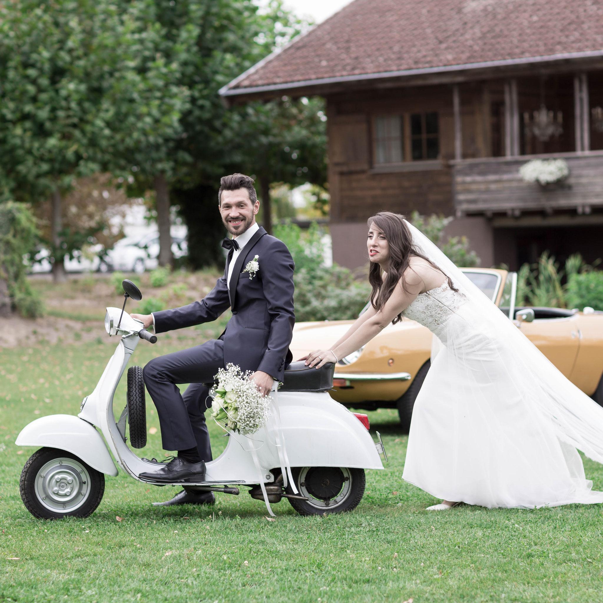 Fotograf für moderne russische Hochzeit in Langen