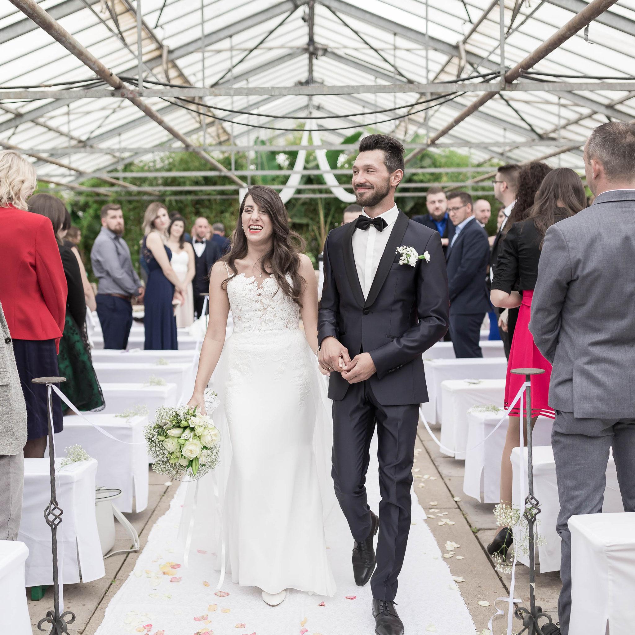 Kameramann für moderne russische Hochzeit in Königstein