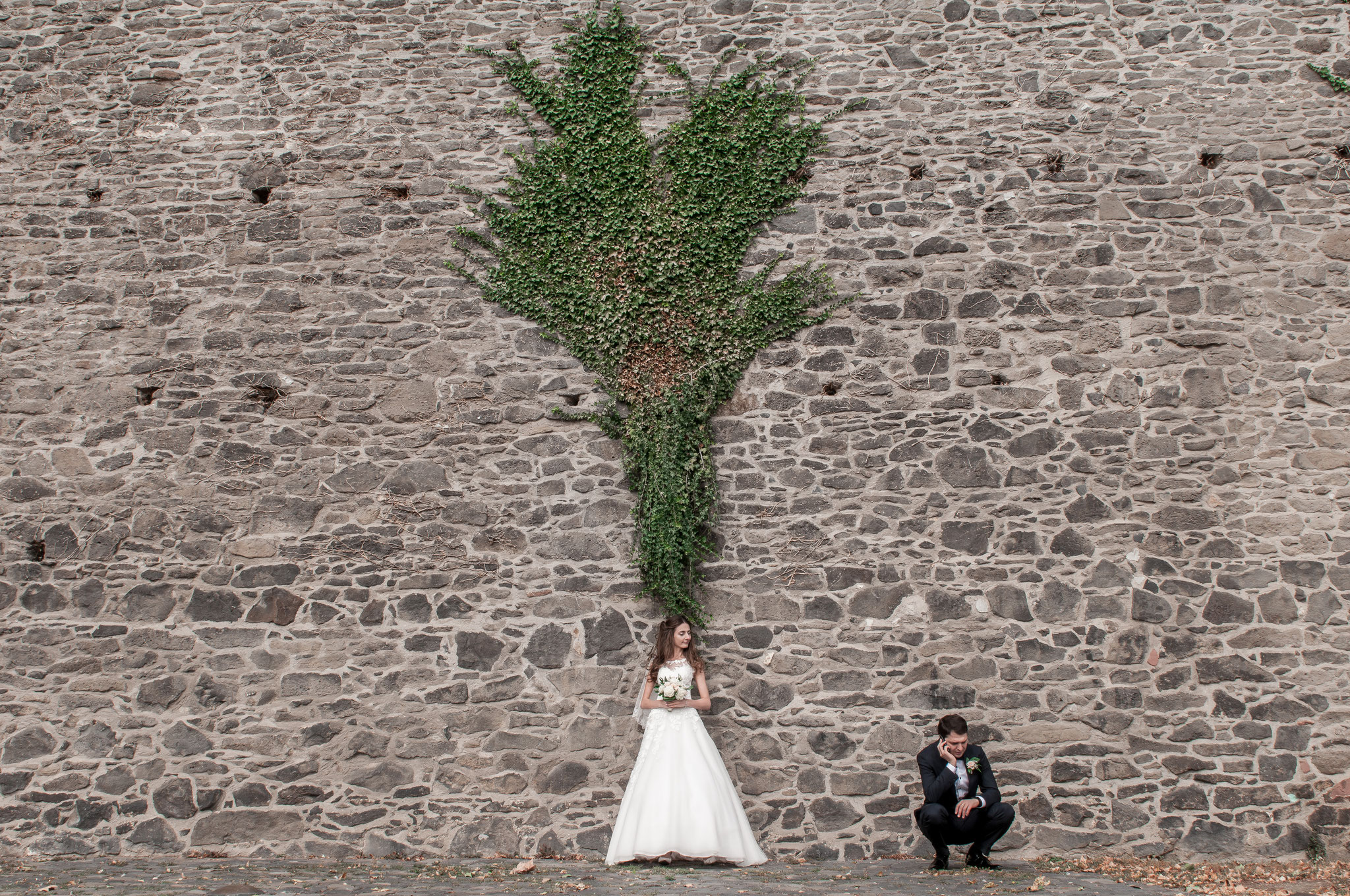 Ausnahmezustand bei dem Bräutigam - spontane Situation