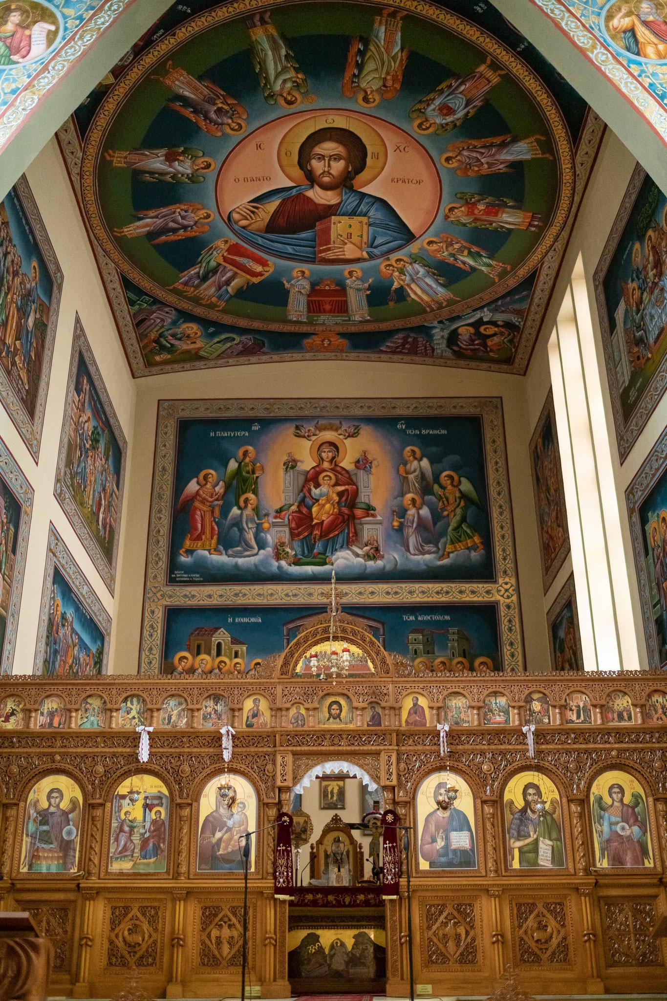 Der Altar einer griechisch orthodoxen Kirch in Ludwigshafen