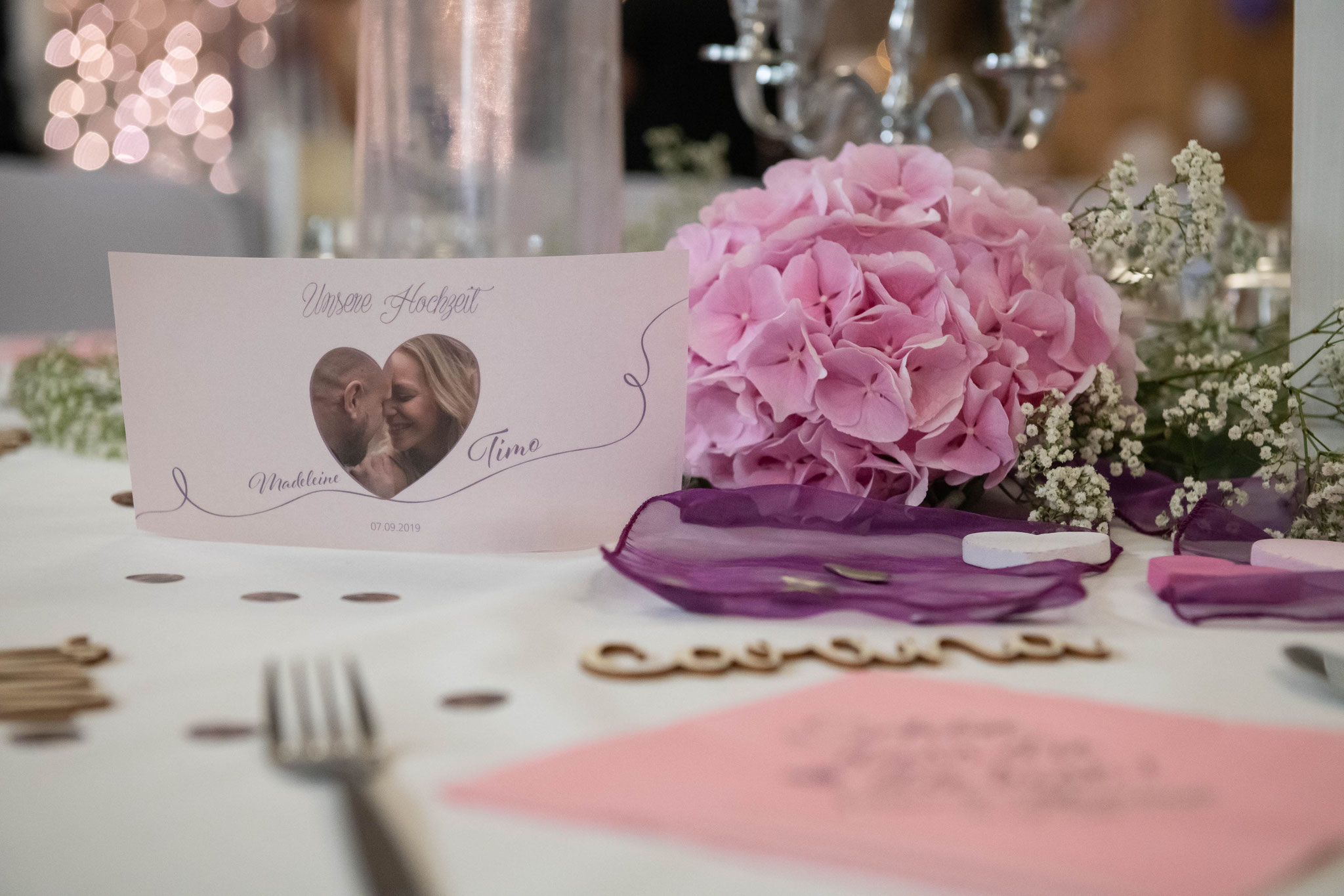 Dekorationen für jede Hochzeit