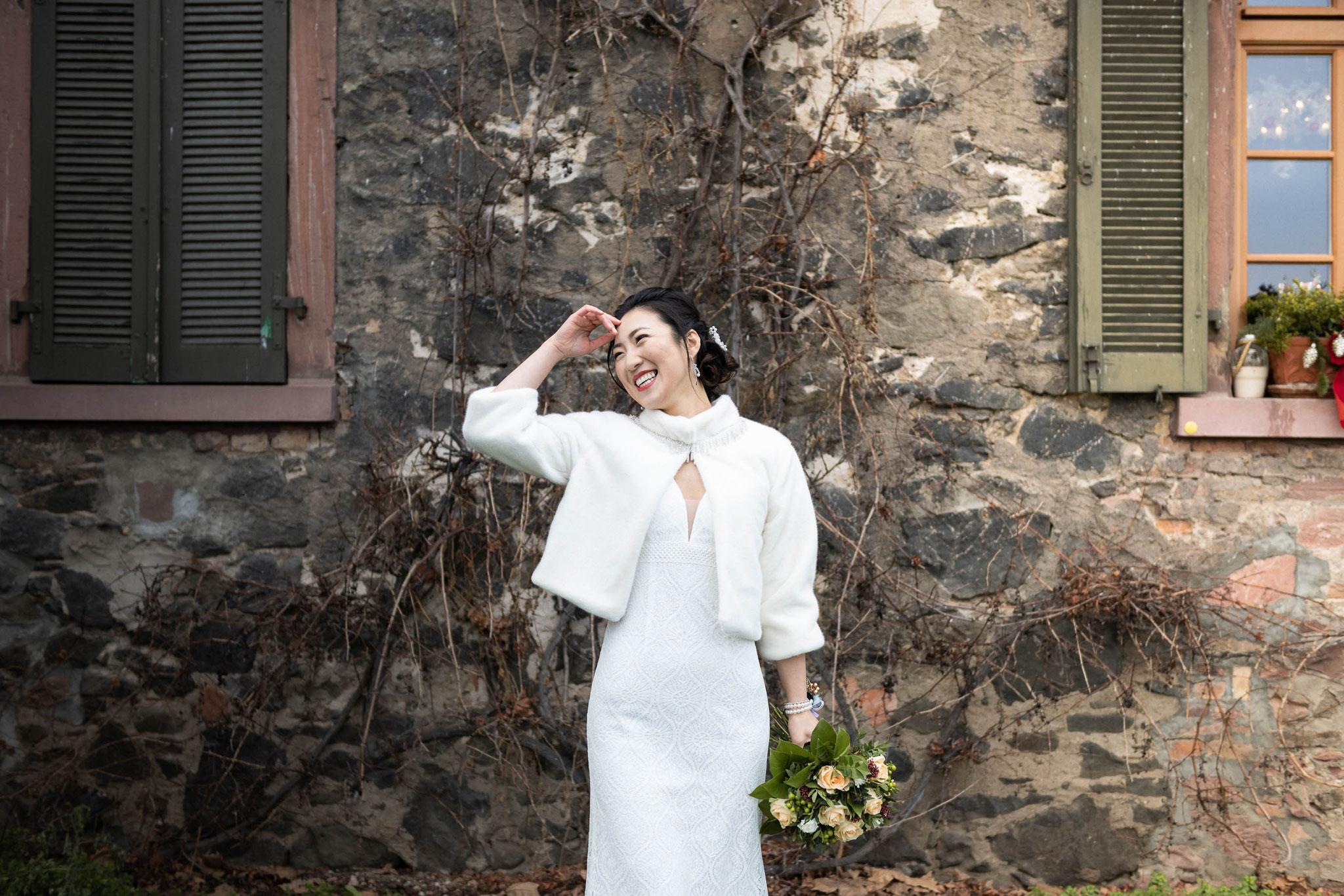 Hochzeit-Shooting mit der Braut oder Brautshooting