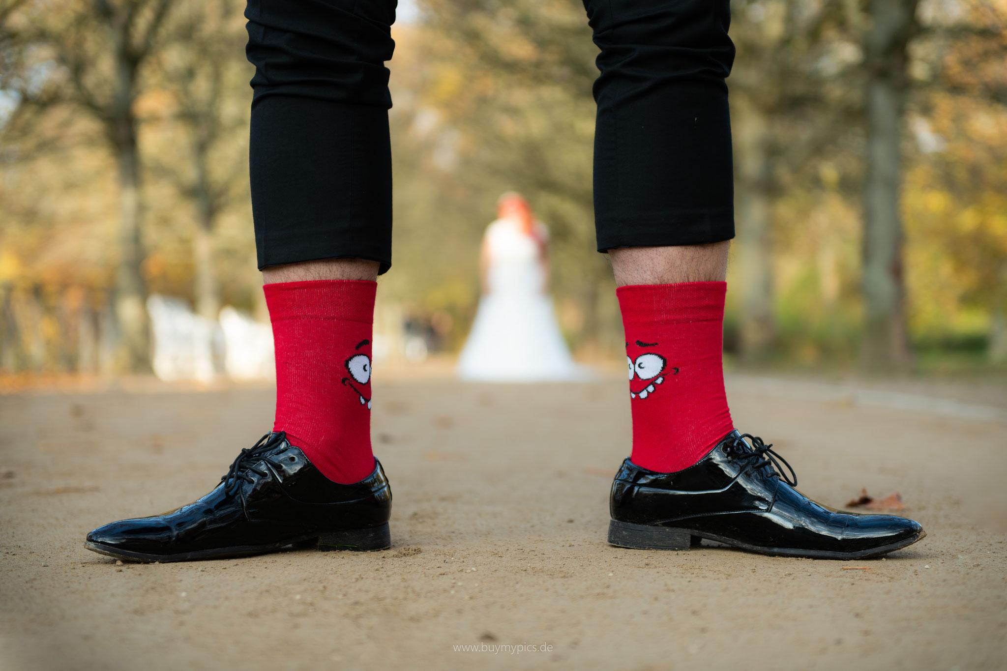 Socken mit Smiles für Bräutigam