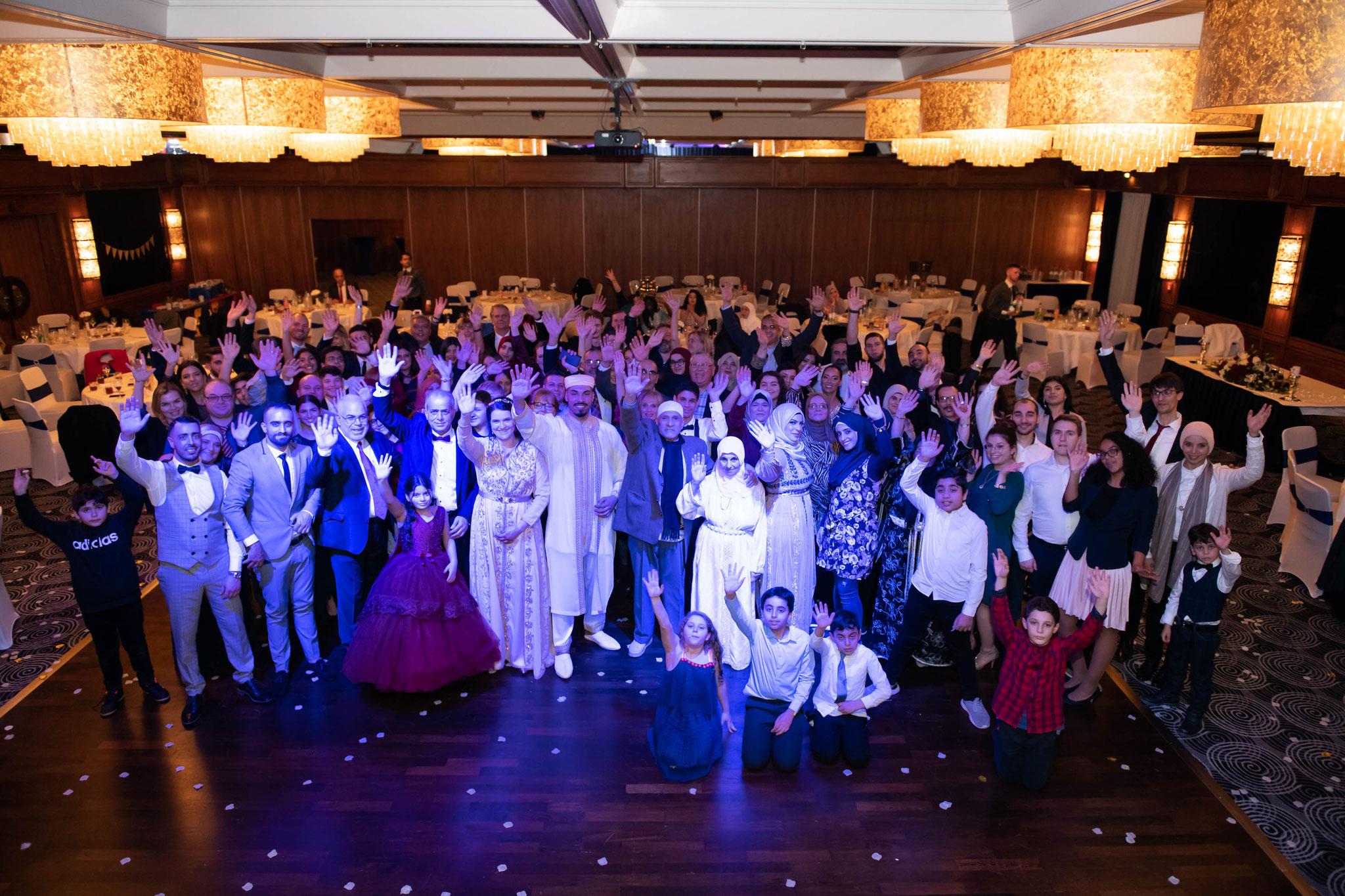 Gruppenfoto, Gruppenaufnahmen bei Hochzeiten und Events