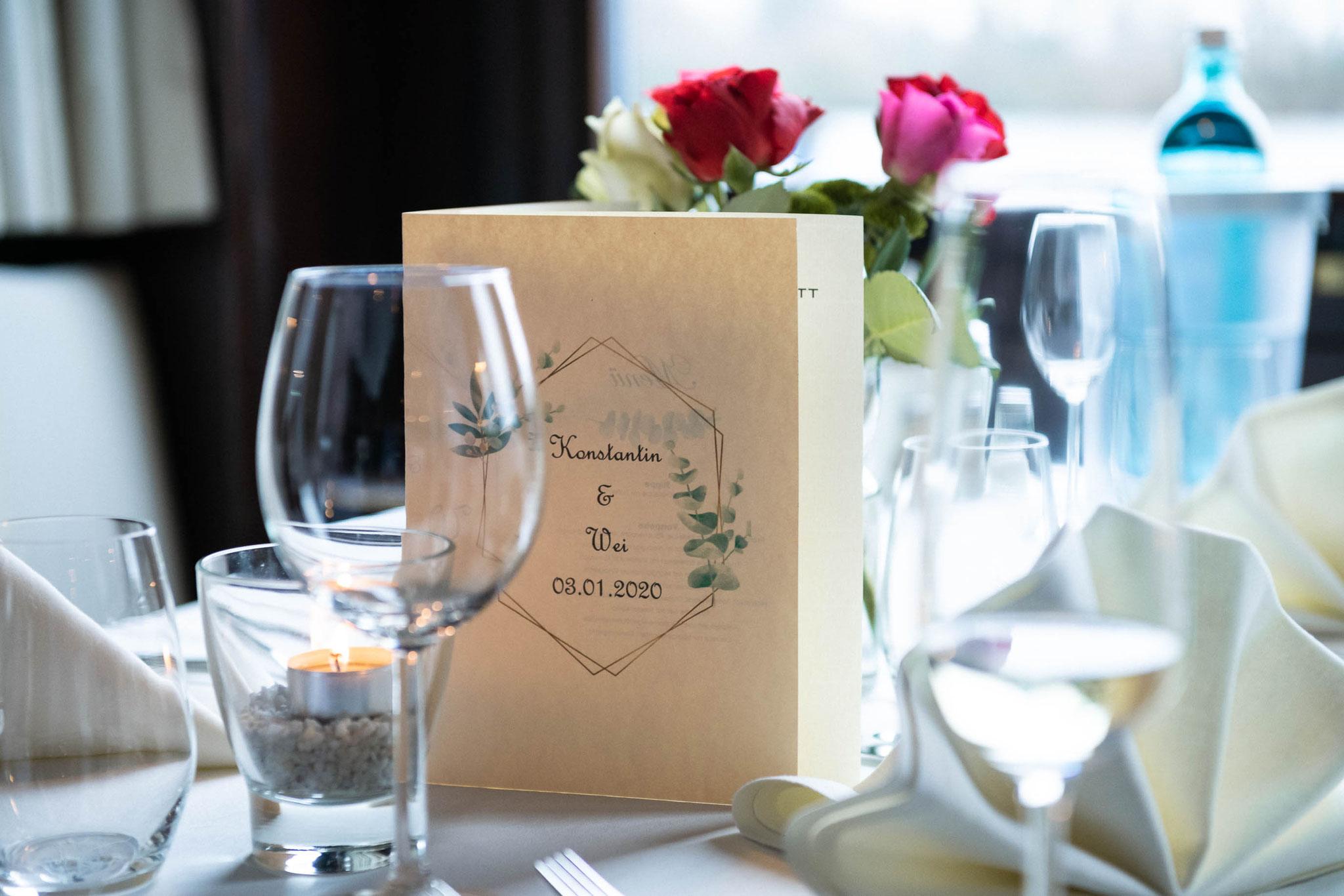 Dekoration im Café Restaurant Hotel Schlott