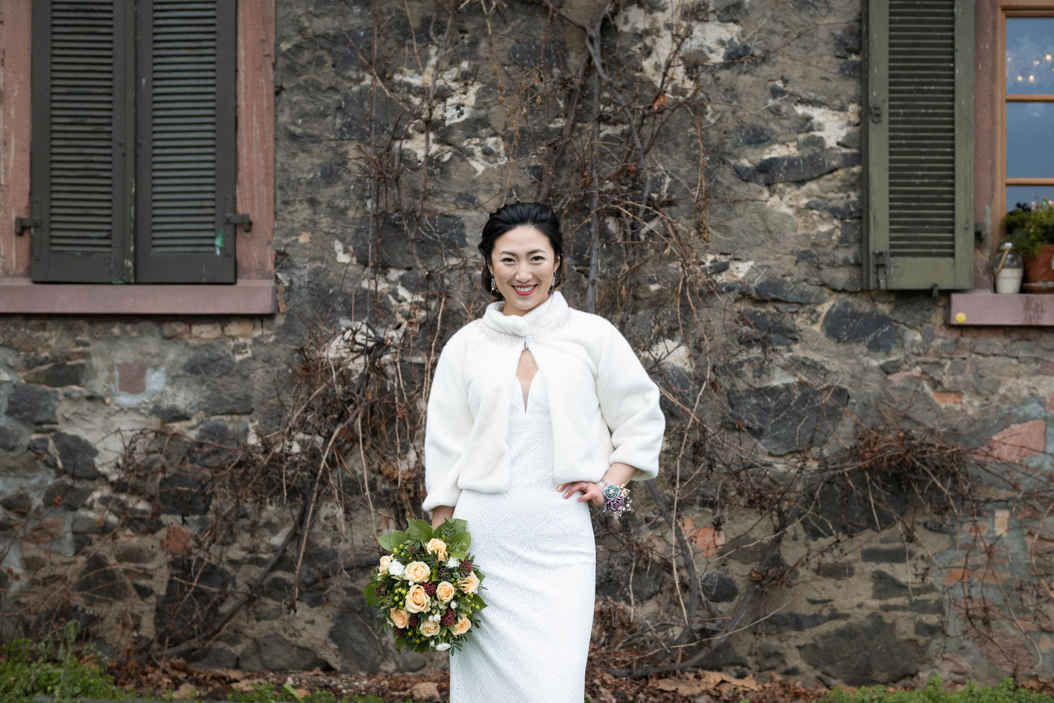 Professionelle Fotoaufnahmen von der Braut oder Brautshooting