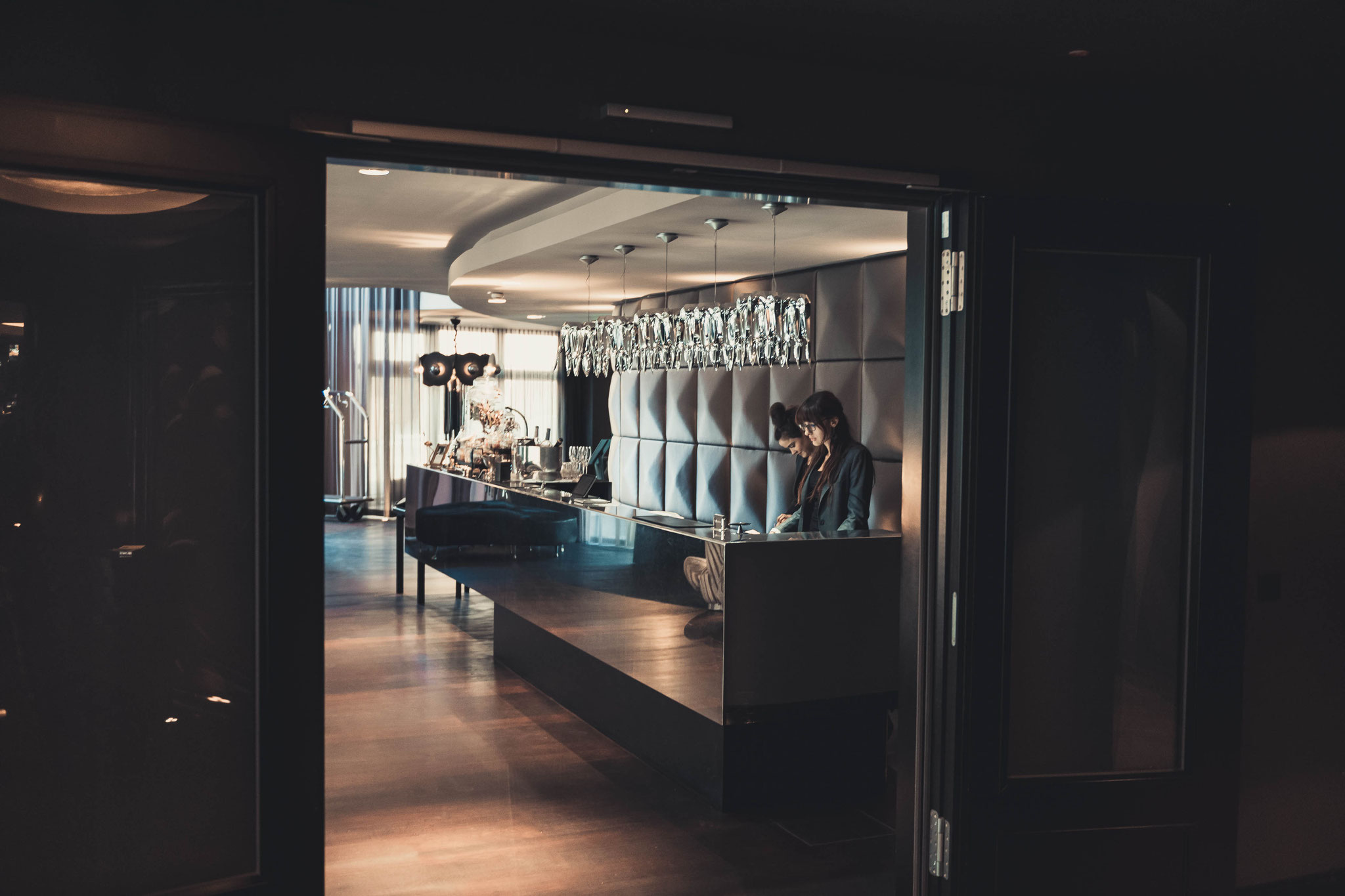 Foyer im Roomers Hotel Frankfurt am Main