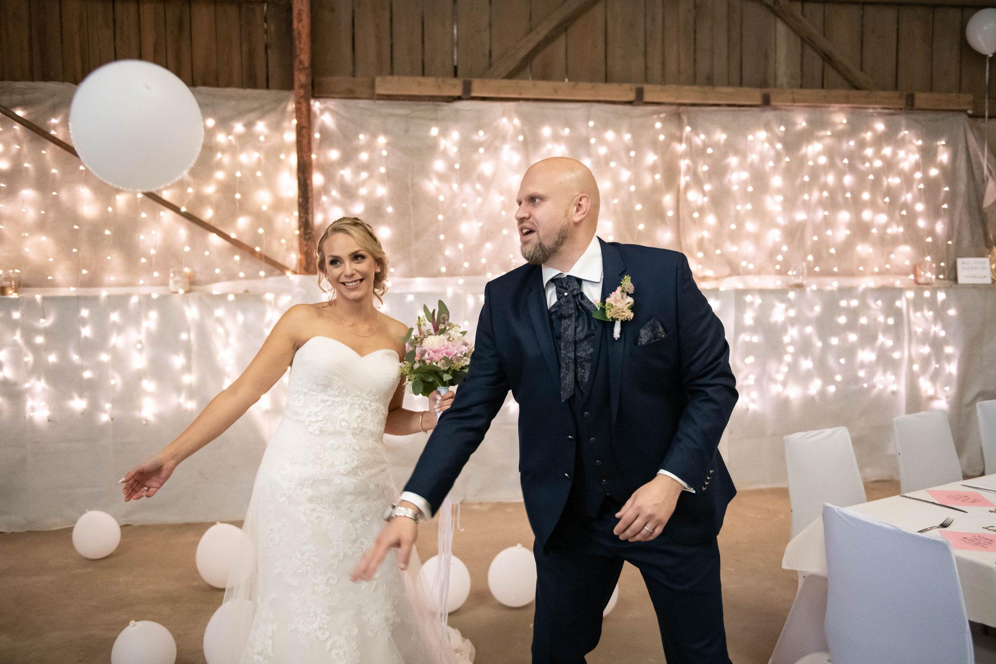 Spontane Aufnahmen mit dem Brautpaar