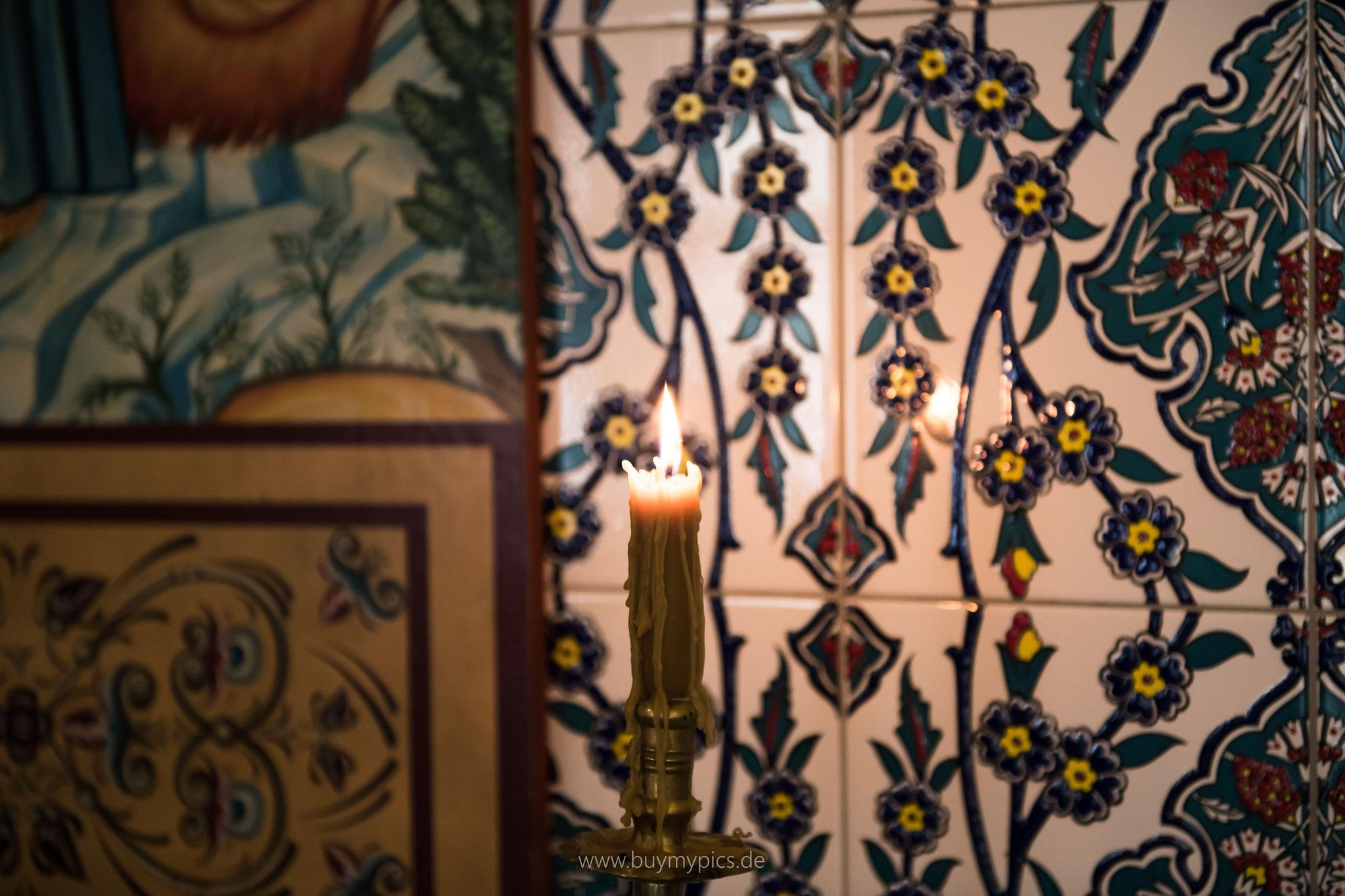 Muster und Kirchendekoration