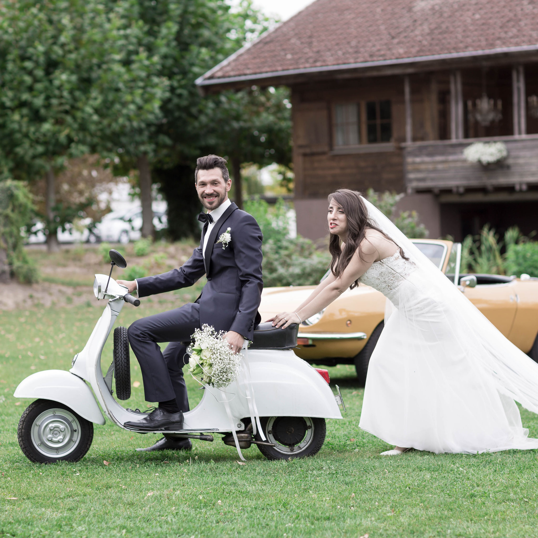 Fotograf für moderne russische Hochzeit in Nidda